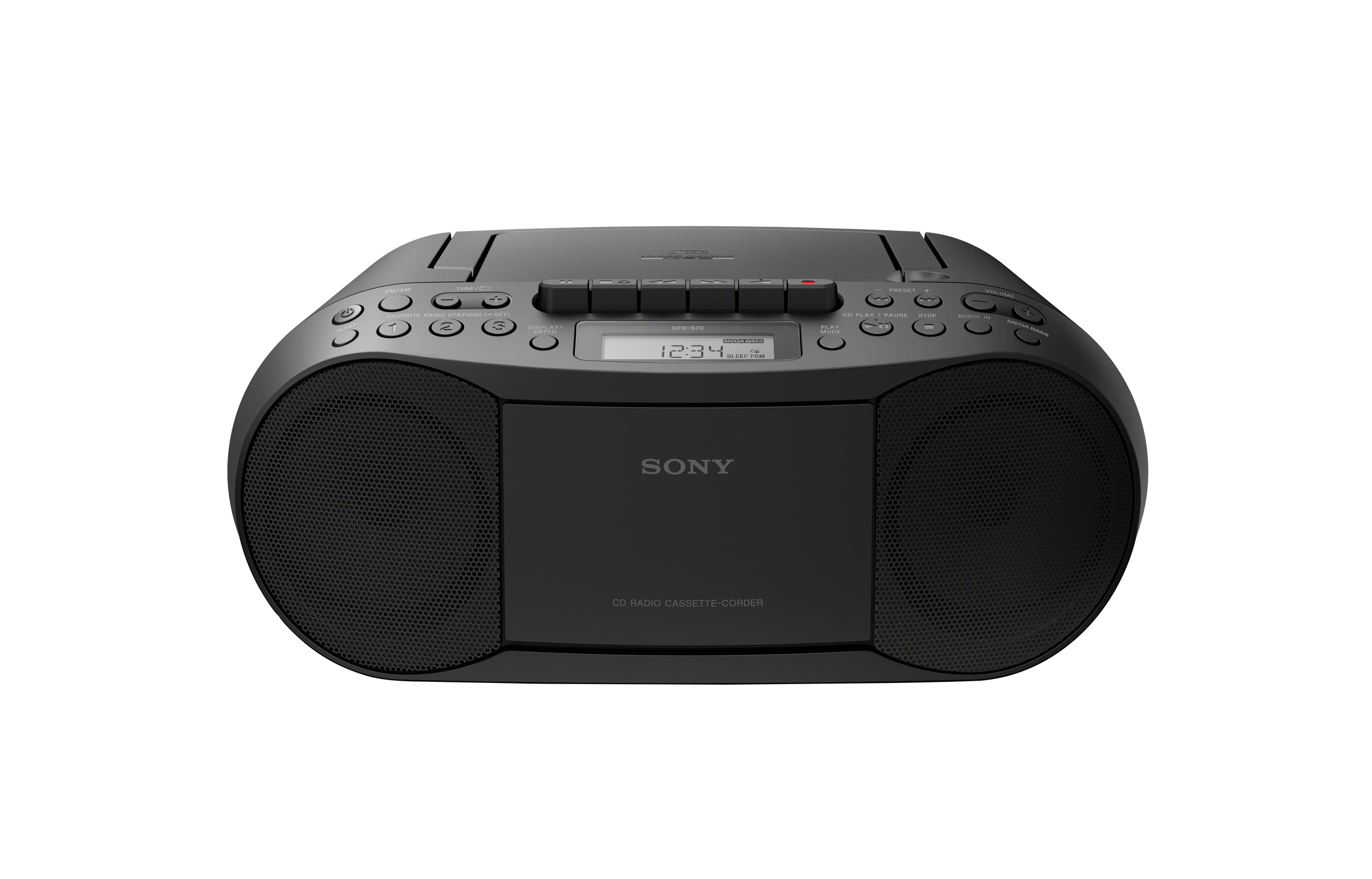 Sony CFDS70 Portable Boombox with CD  Cassette Player