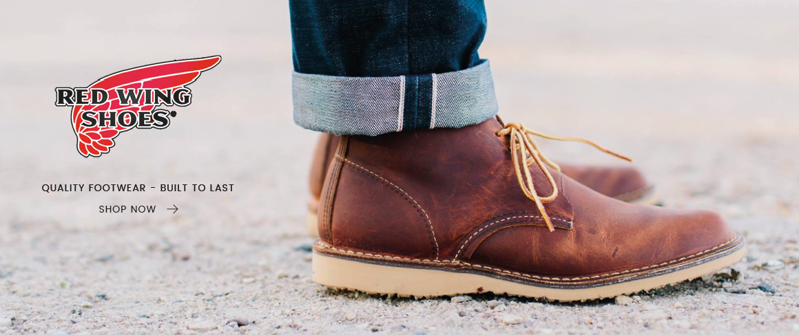 Quality mens Red Wing boots