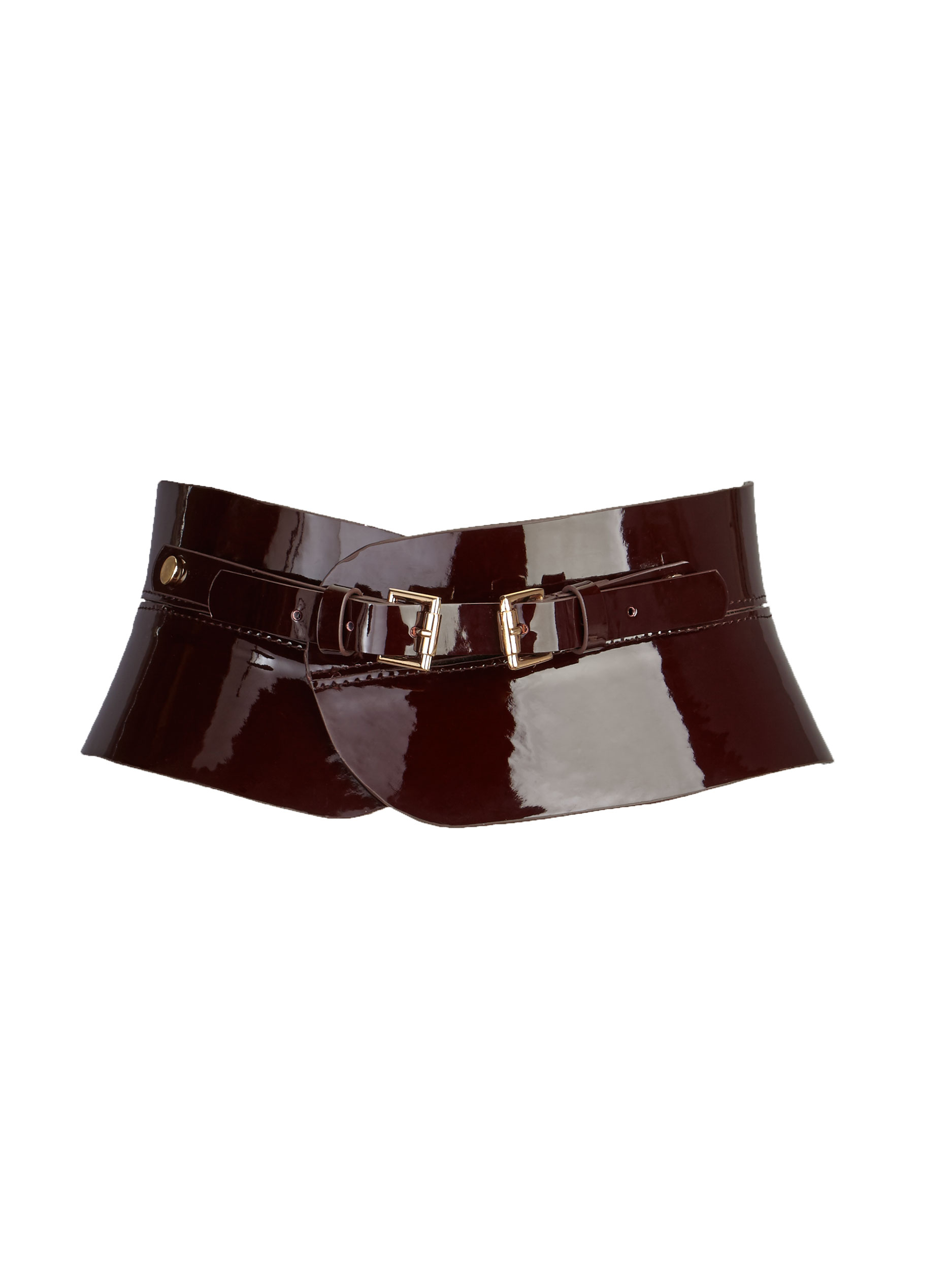 V By Very Obi Patent Waist Belt.