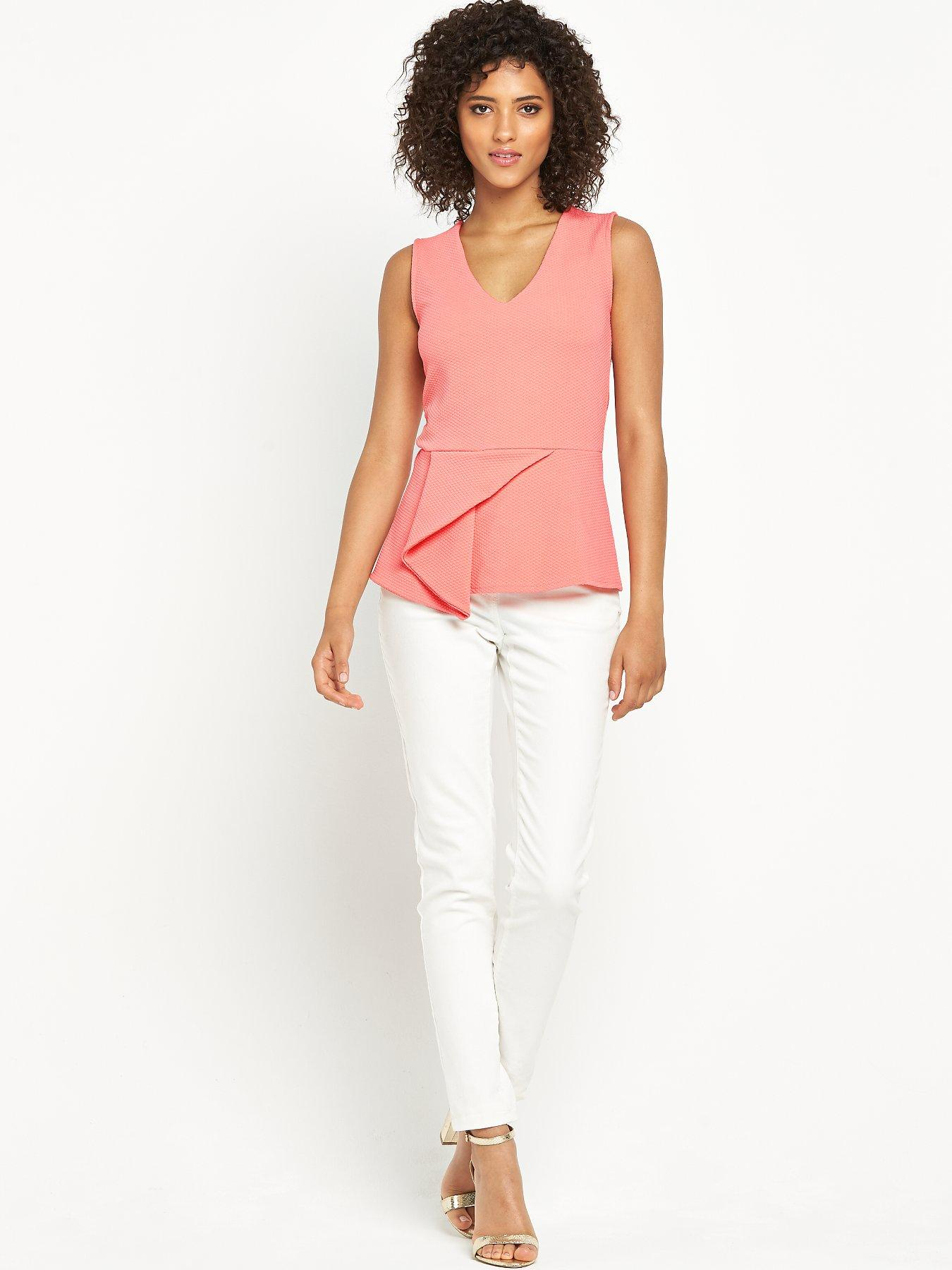 Definitions Aysmmetric Peplum Top