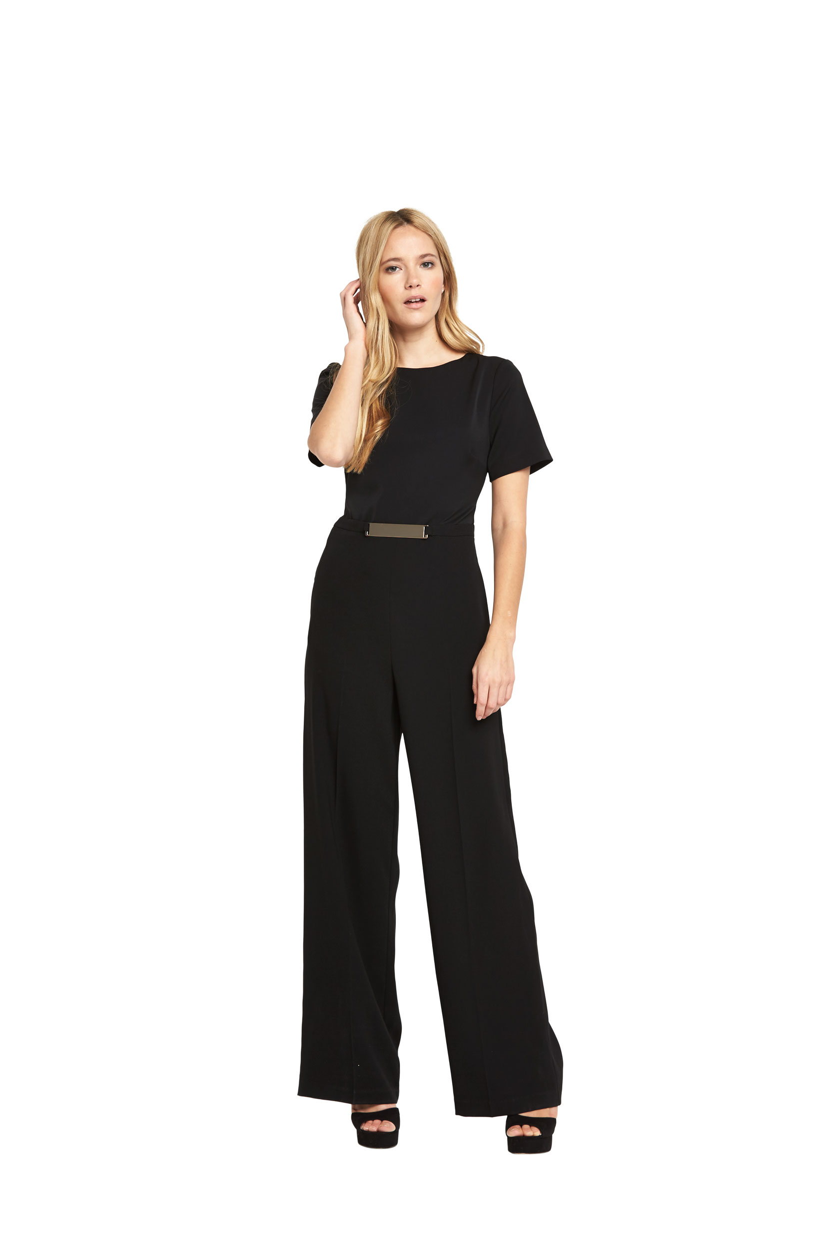 Warehouse Belted Detail Jumpsuit