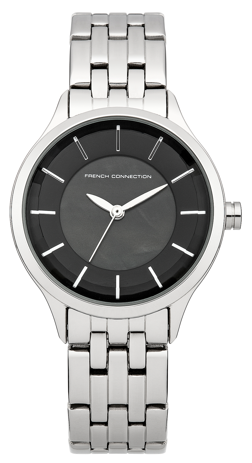 French Connection Abbey Black Dial Stainless Steel Bracelet Ladies Watch