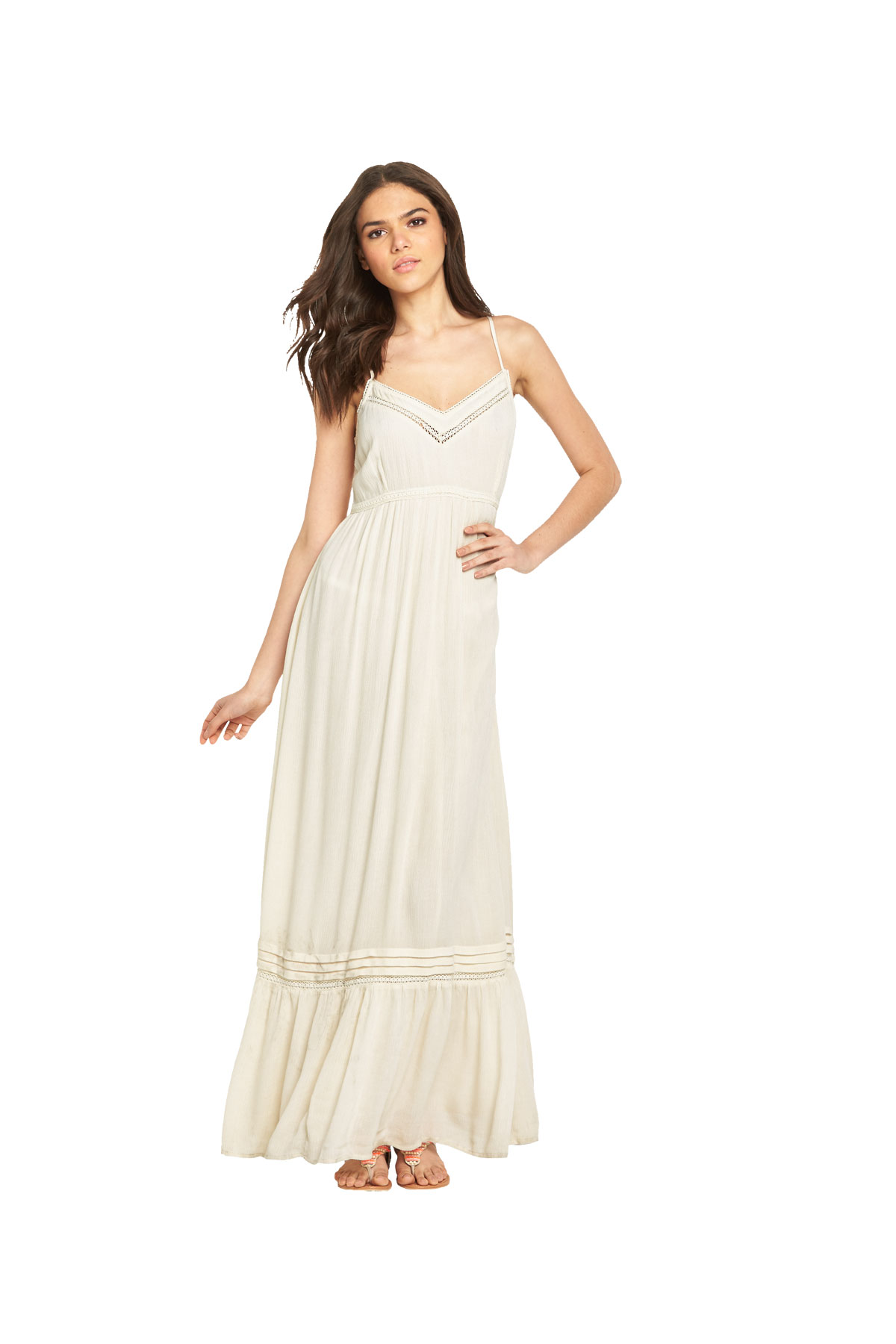 Miss Selfridge Strappy Tiered Cheesecloth Maxi Dress
