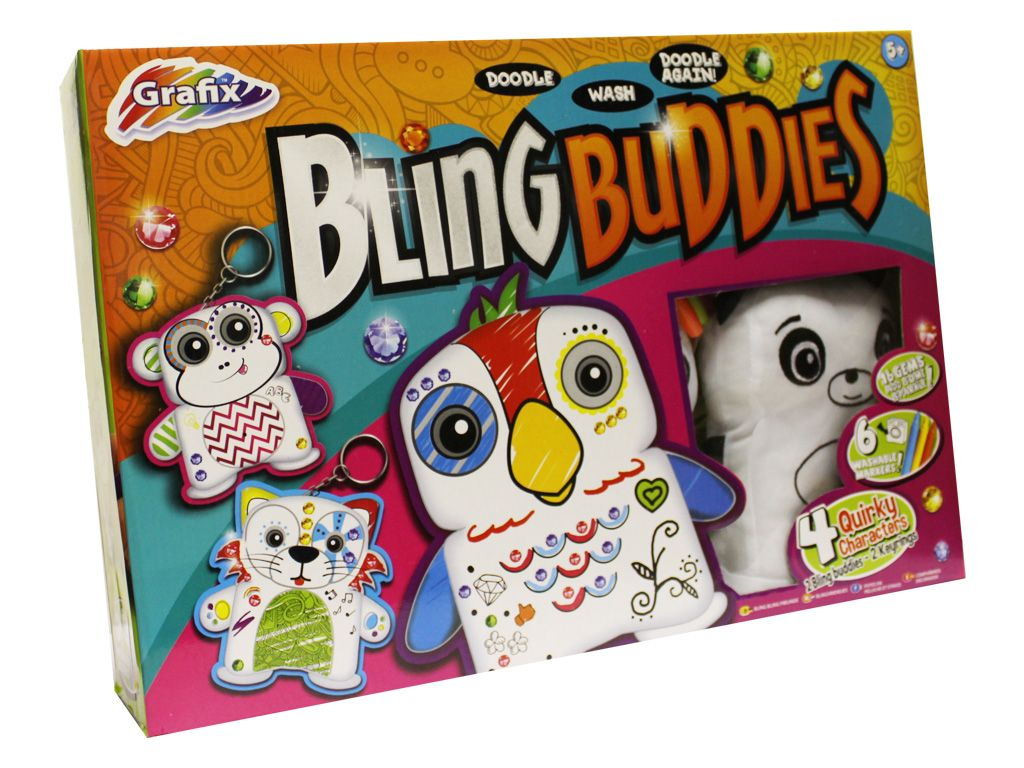 Grafix Bling Buddies Cuddly Toy Craft Set