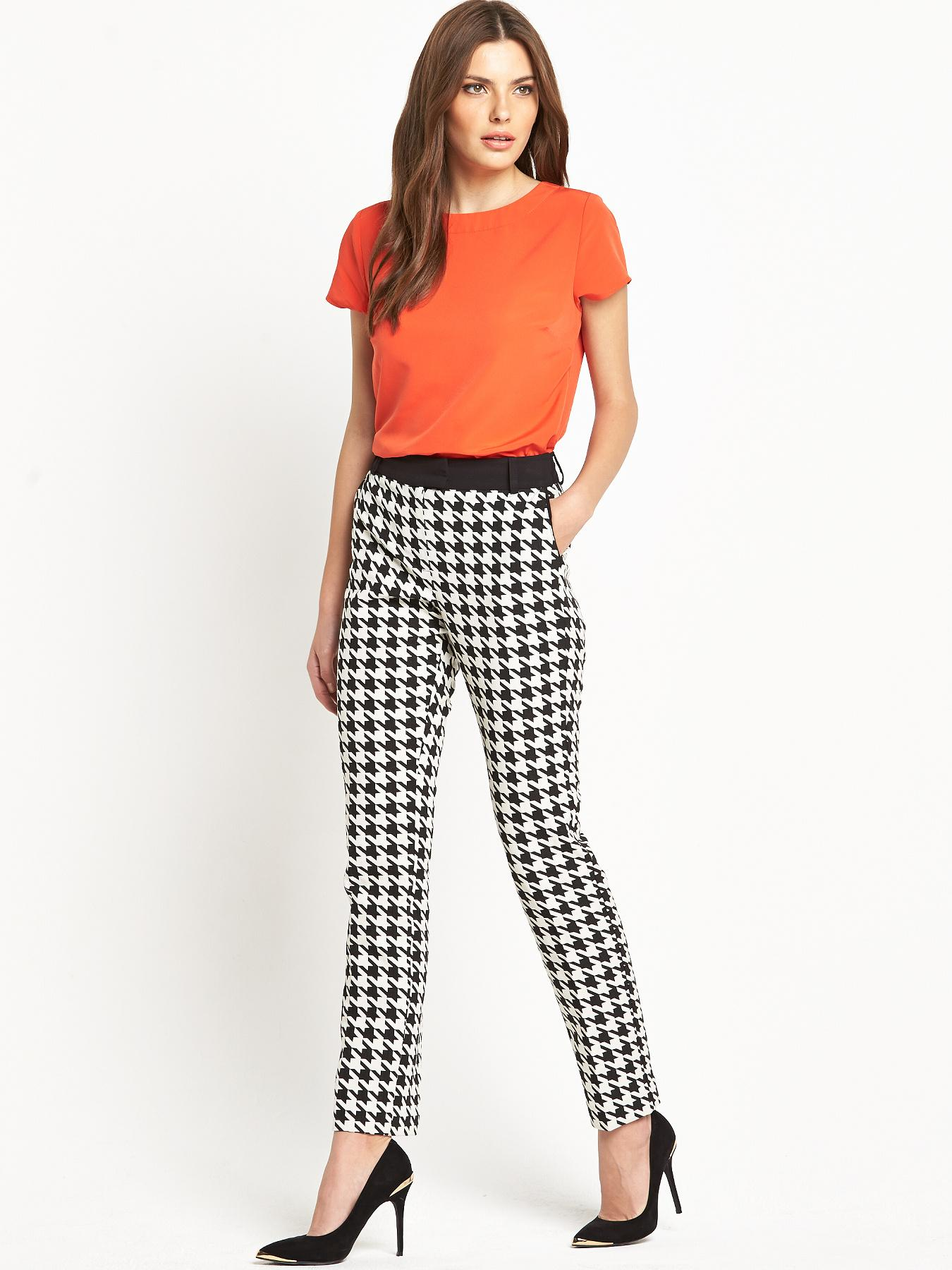 Definitions Oversize Jacquard Houndstooth Skinny 78 Trousers