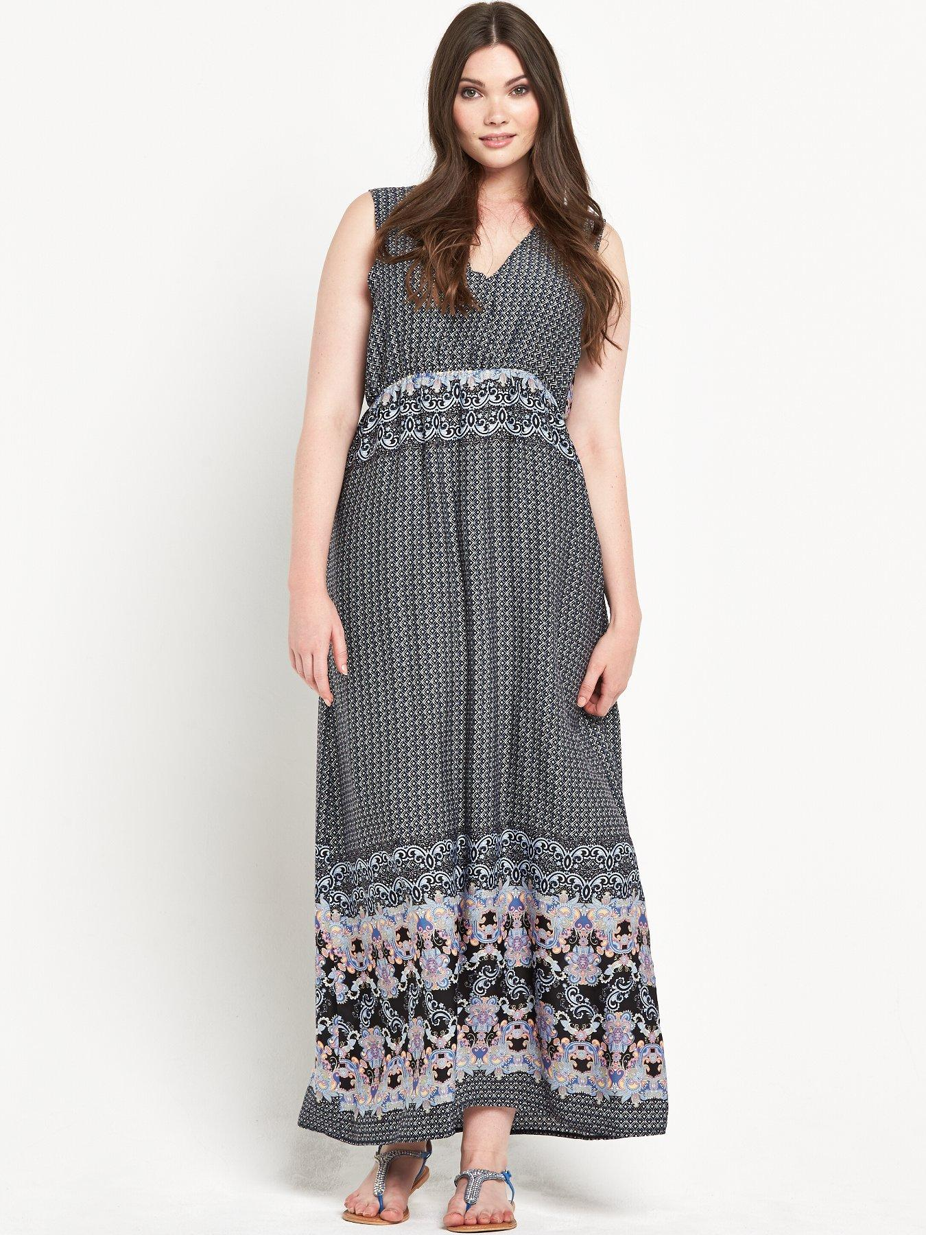 Alice And You Curve Border Print Maxi Dress