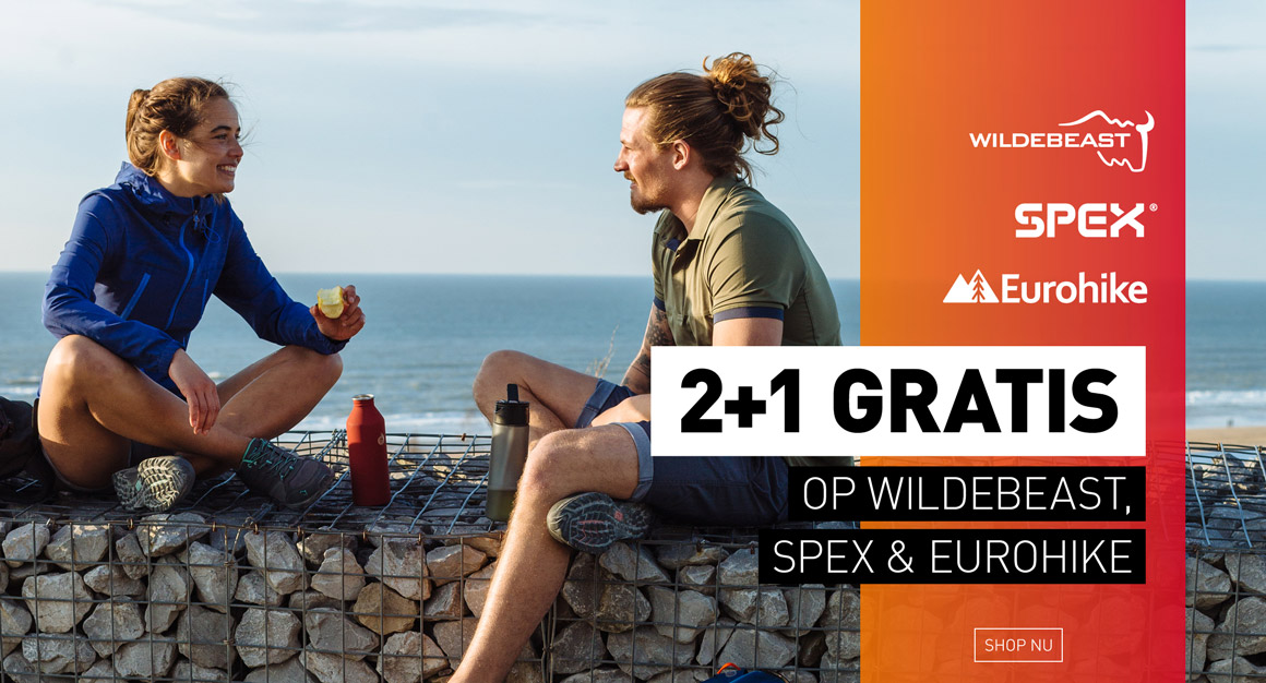 2+1 gratis Wildebeast, SPEX, Eurohike