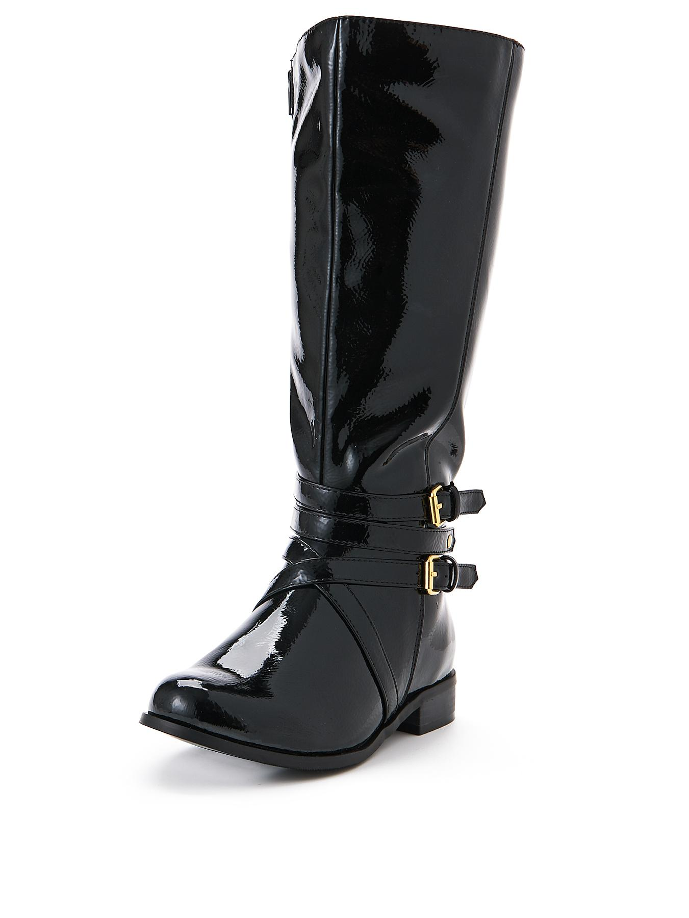 Shoe Box Adelaide Buckle Detail Extra Wide Fit Riding Boot