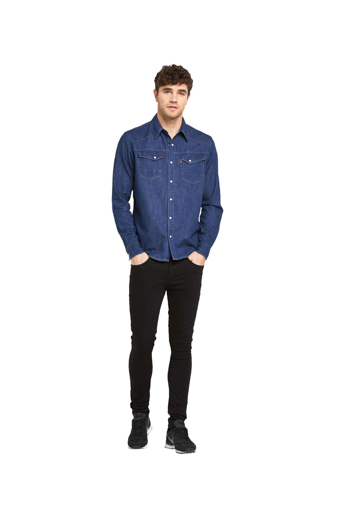 883 Police Bronco Long Sleeved Denim Shirt