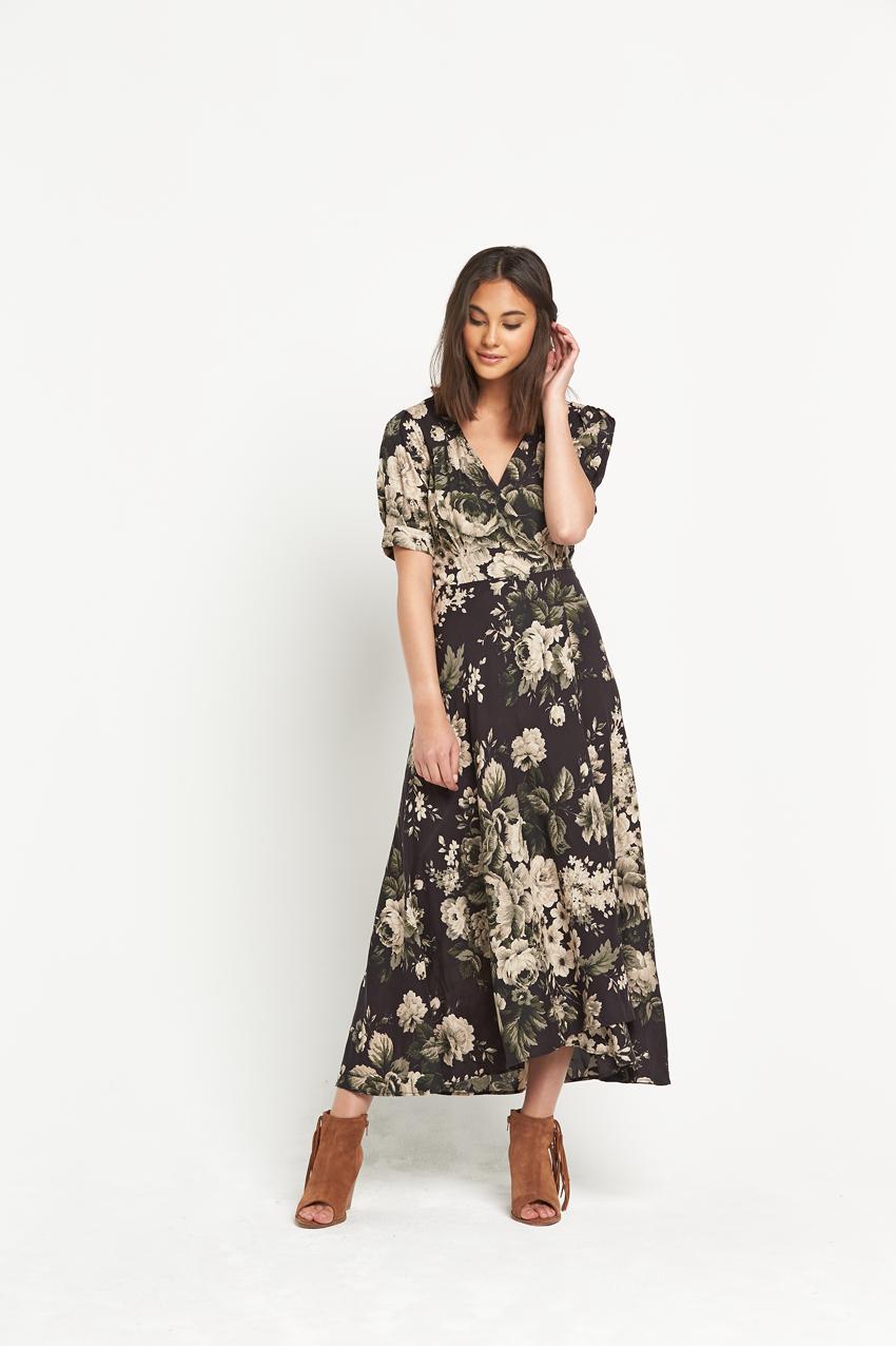 Denim Supply Wrap Front Dress