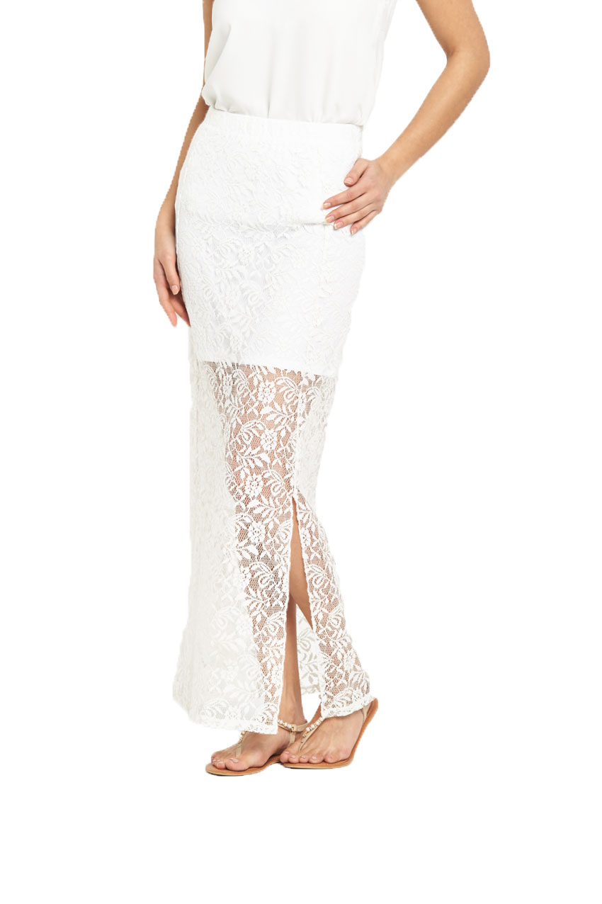 V By Very Lace Maxi Skirt
