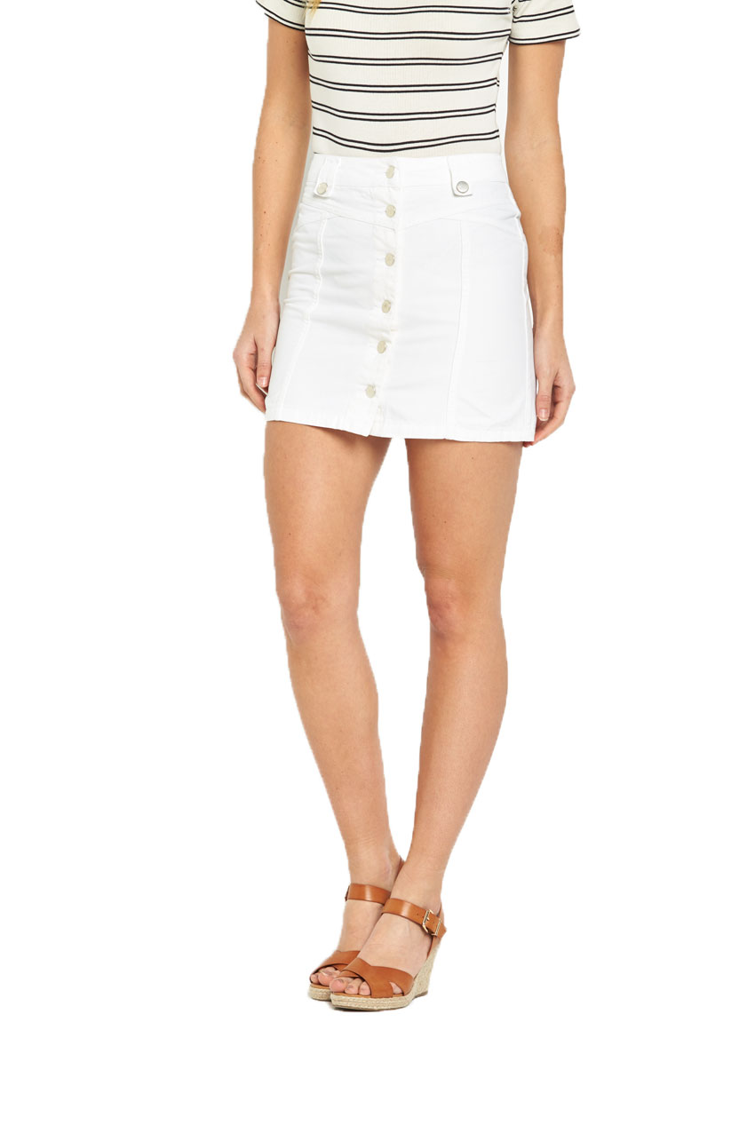 V By Very High Waisted Button Through Mini Skirt
