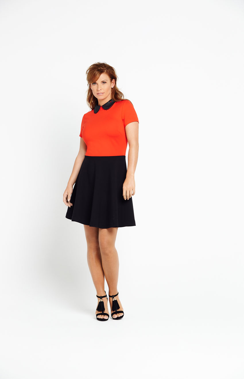 Coleen Cut Work Collar Dress