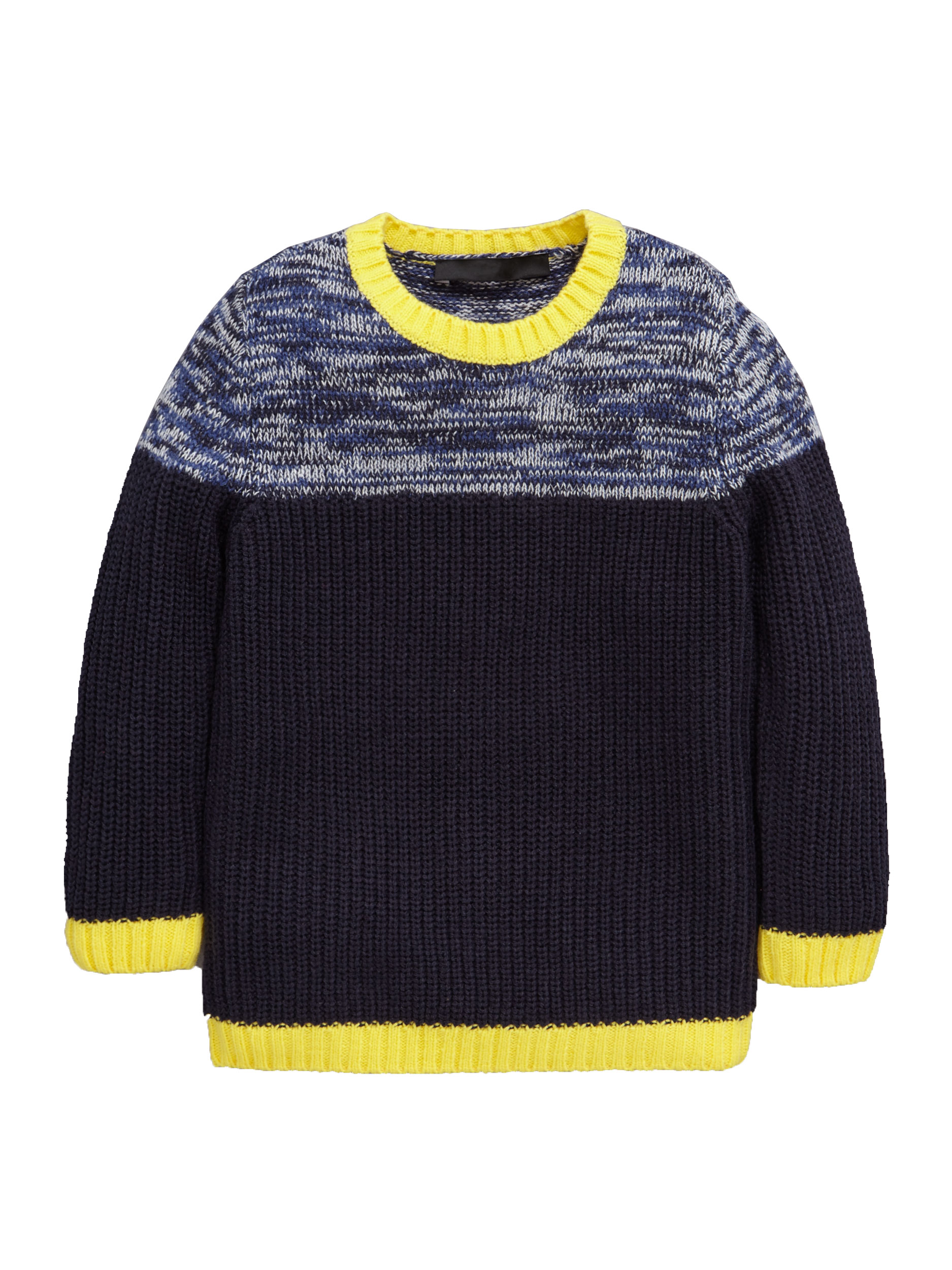 Mini V by Very Boys Twisted Yarn Panel Knitted Jumper.