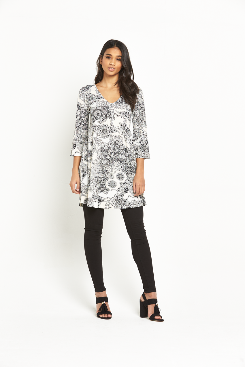 V By Very Bell Sleeve Jersey Tunic