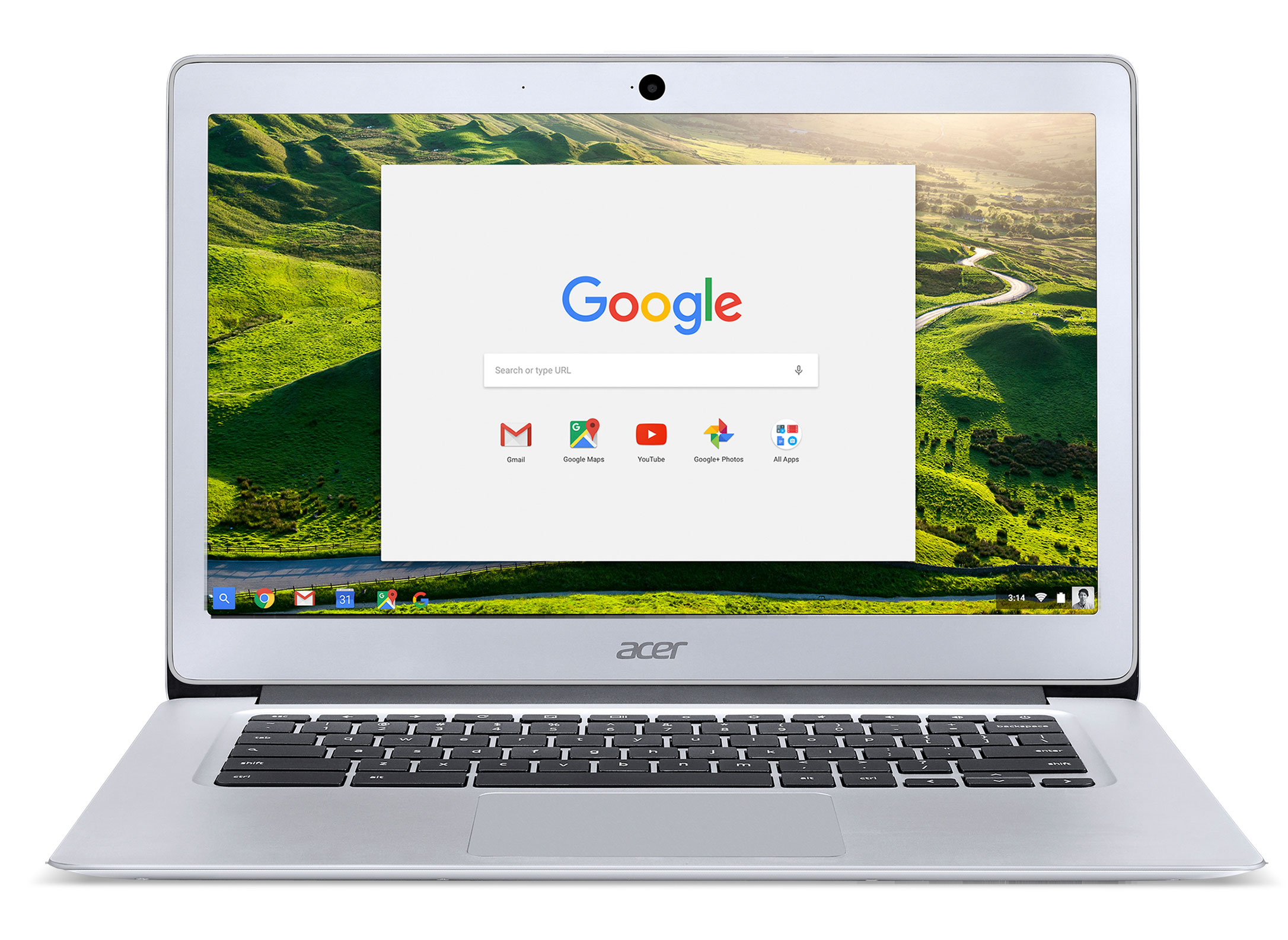 Acer CB3-431 Chromebook 14 Intel Celeron Processor 2GB RAM 16GB eMMC SSD 14 Chromebook