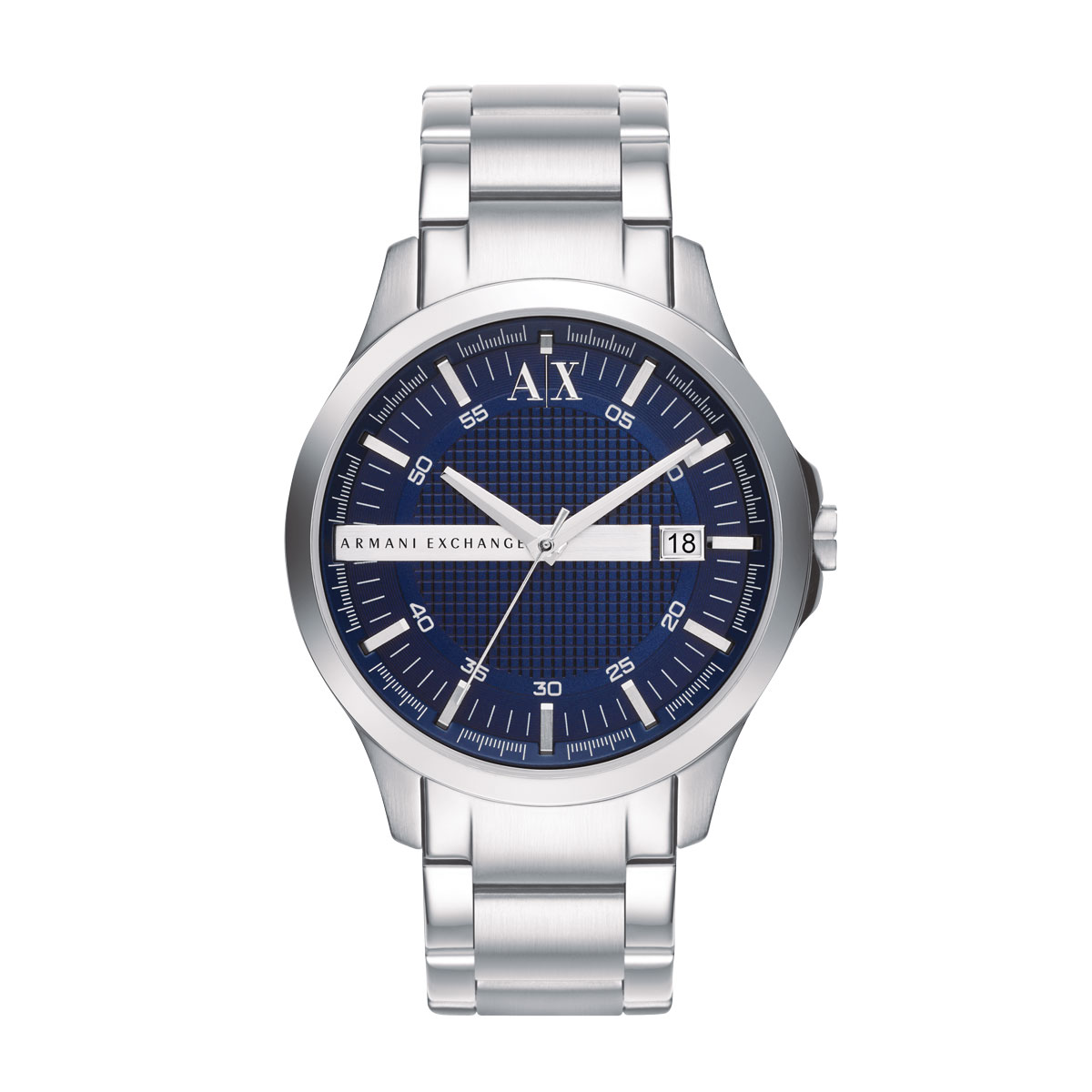 Armani Exchange Blue Dial Stainless Steel Bracelet Mens Watch - AX2132