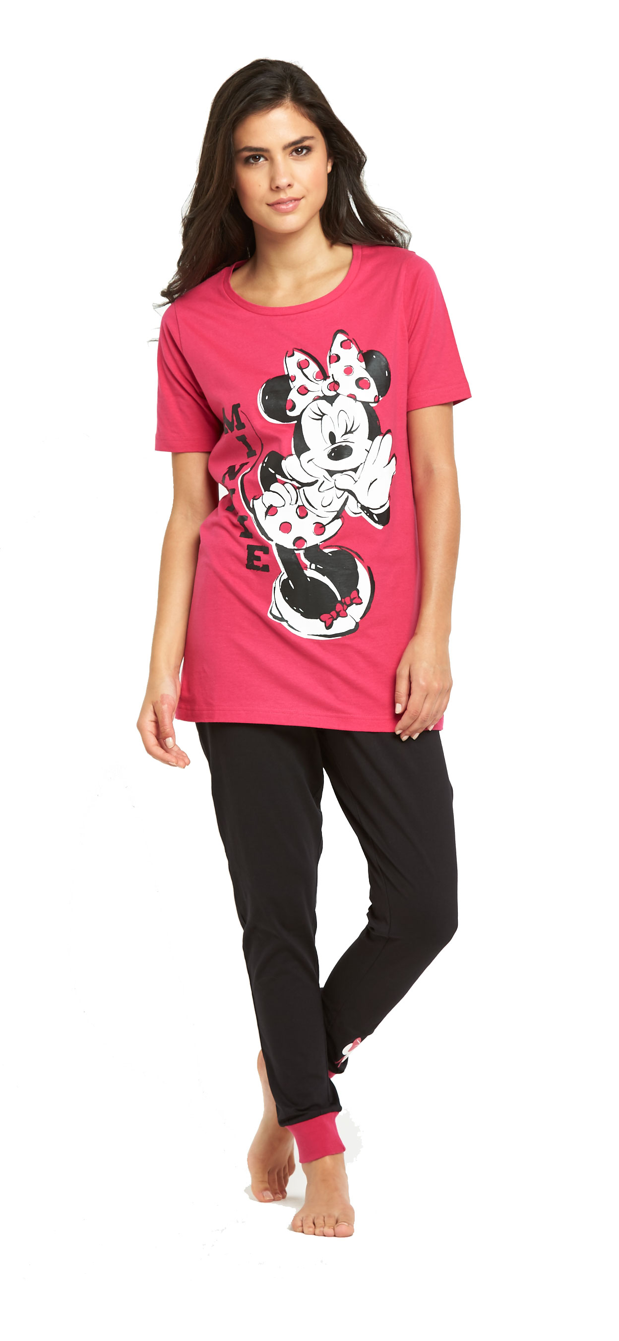 Minnie Mouse Pyjama Top And Cuffed Leggings