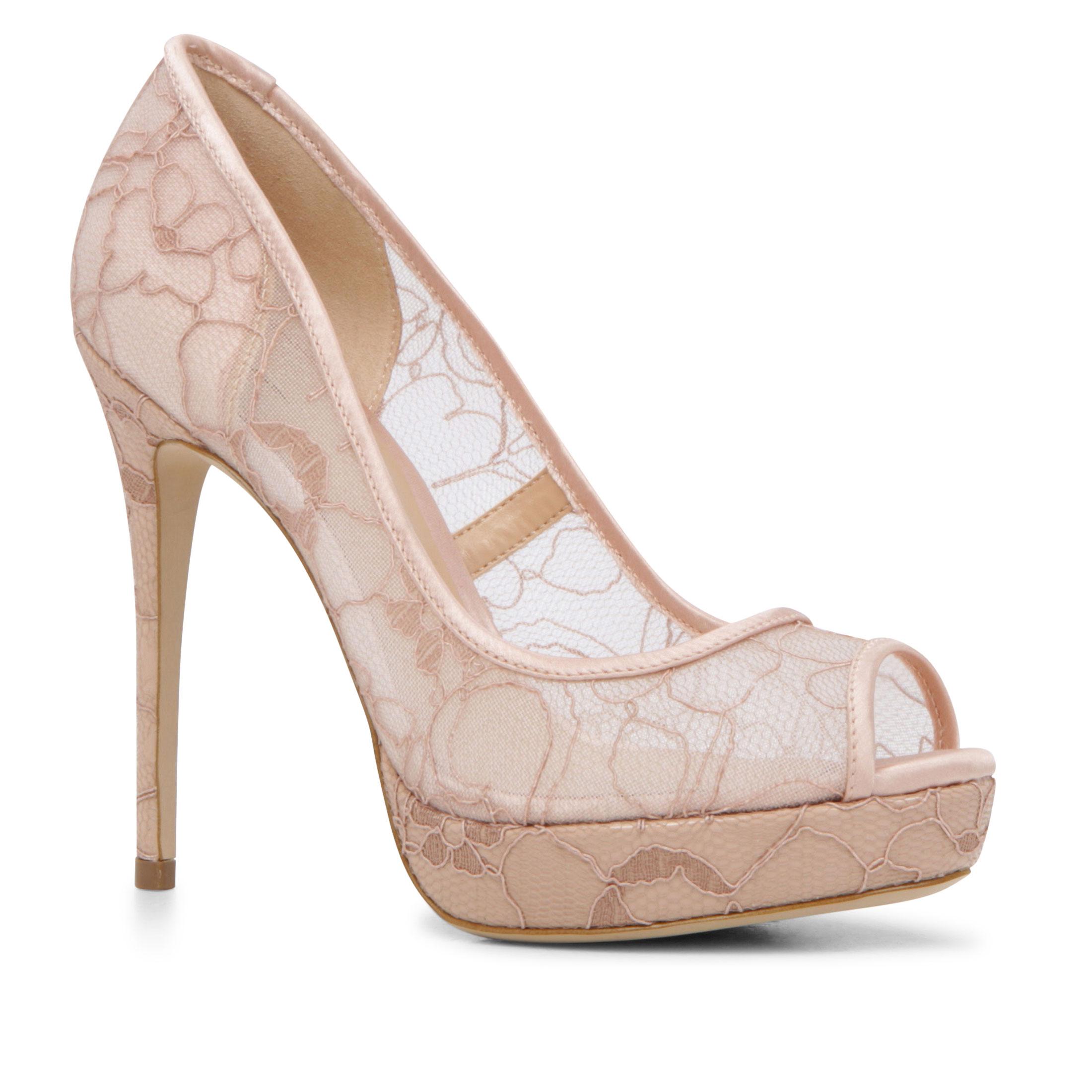 aldo velalla lace peeptoe platform shoes