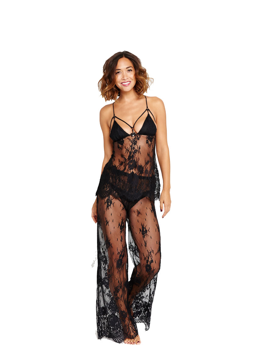 Myleene Klass All Over Lace Satin Cami PJ With Lace Pants