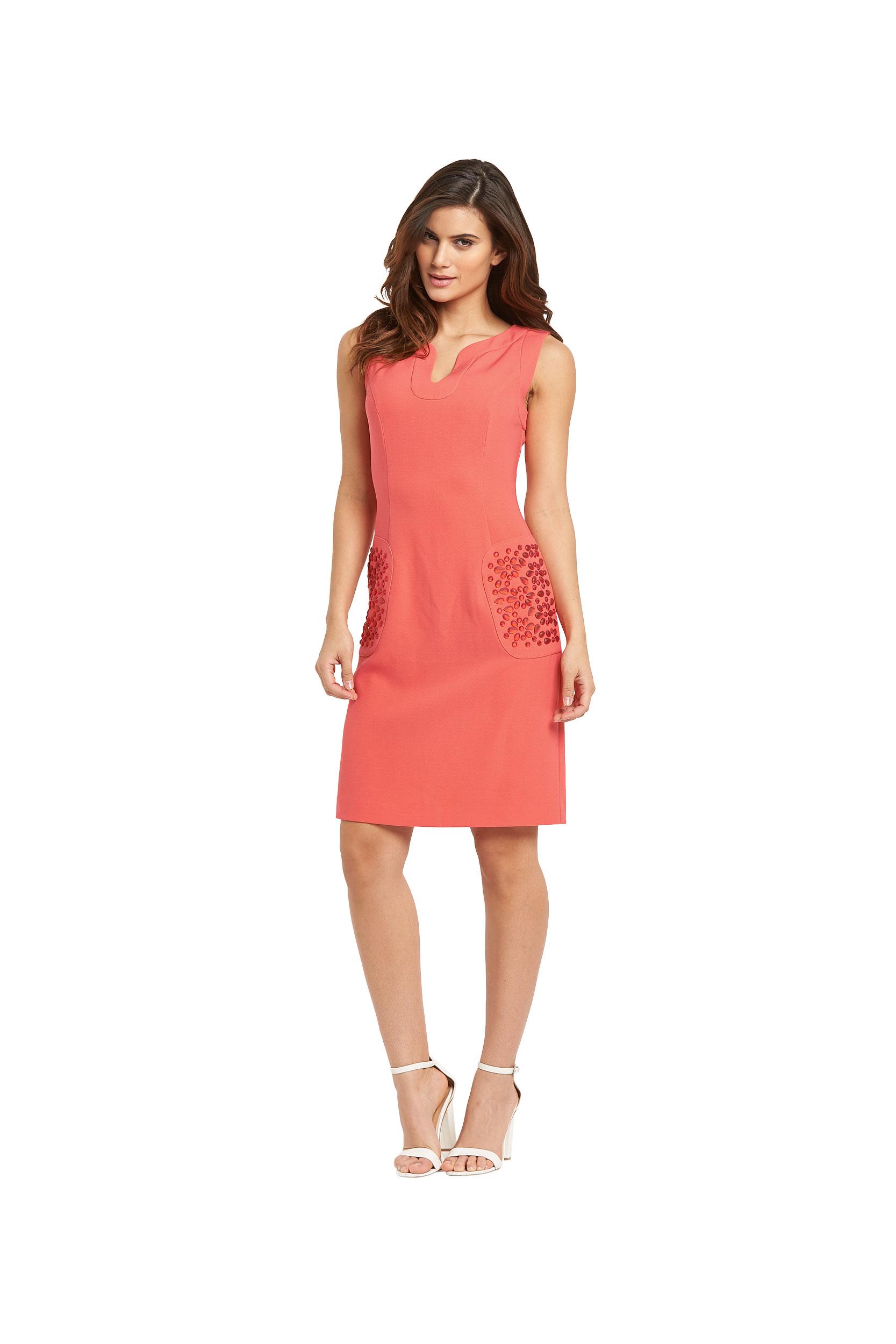 Savoir Embellished Pocket Tunic Dress