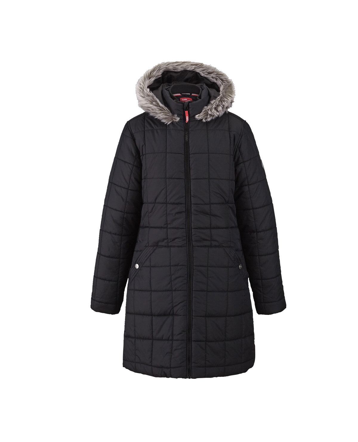 Puffa Girls Longline Hooded Coat.