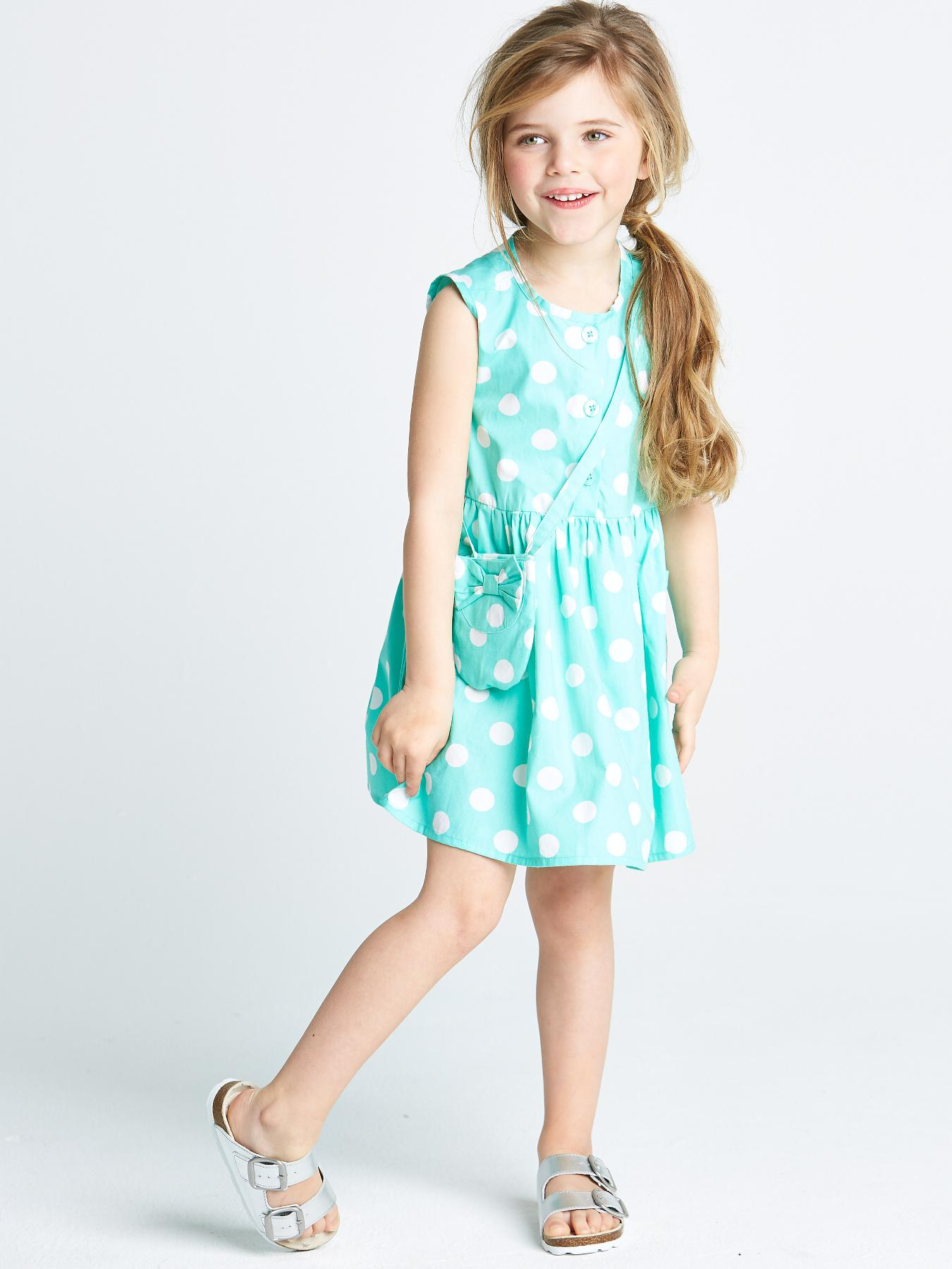 Ladybird Infant Girls Dress With Bag