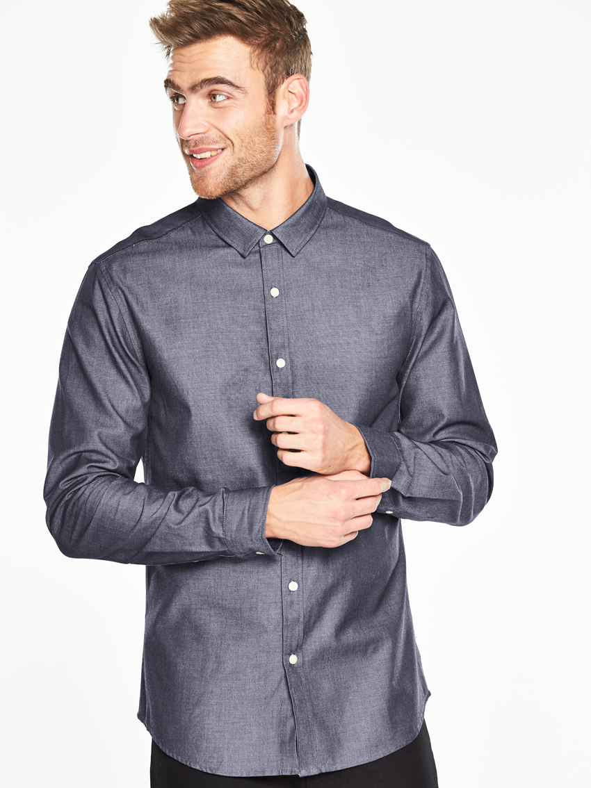 V By Very Long Sleeved Chambray Shirt