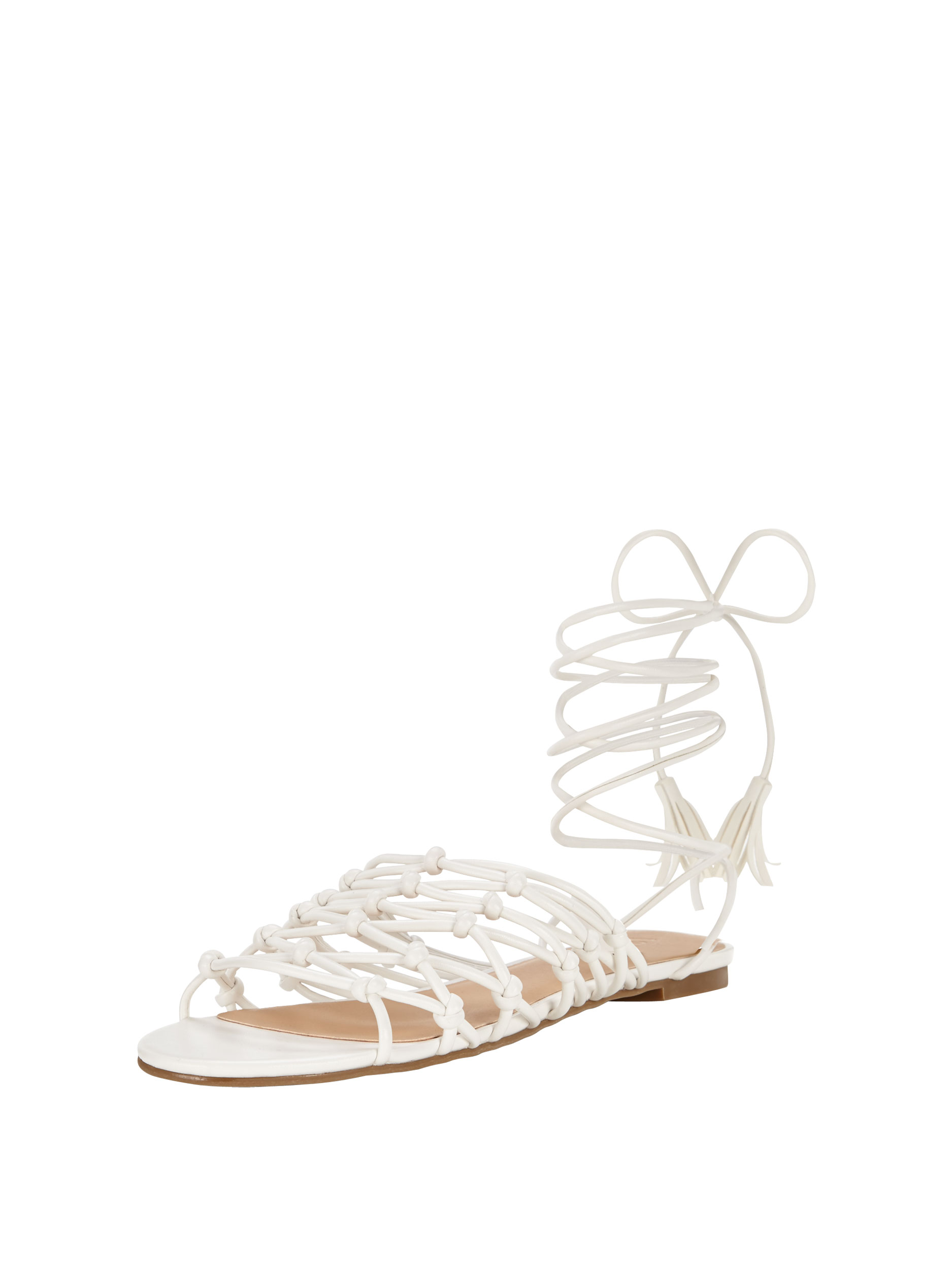 V by Very Bliss Knotted Tie Up The Leg Flat Sandals.