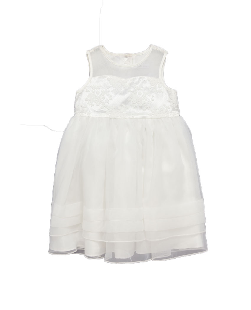 Ladybird Girls Delicate Lace Organza Sweetheart Neck Occasion Dress