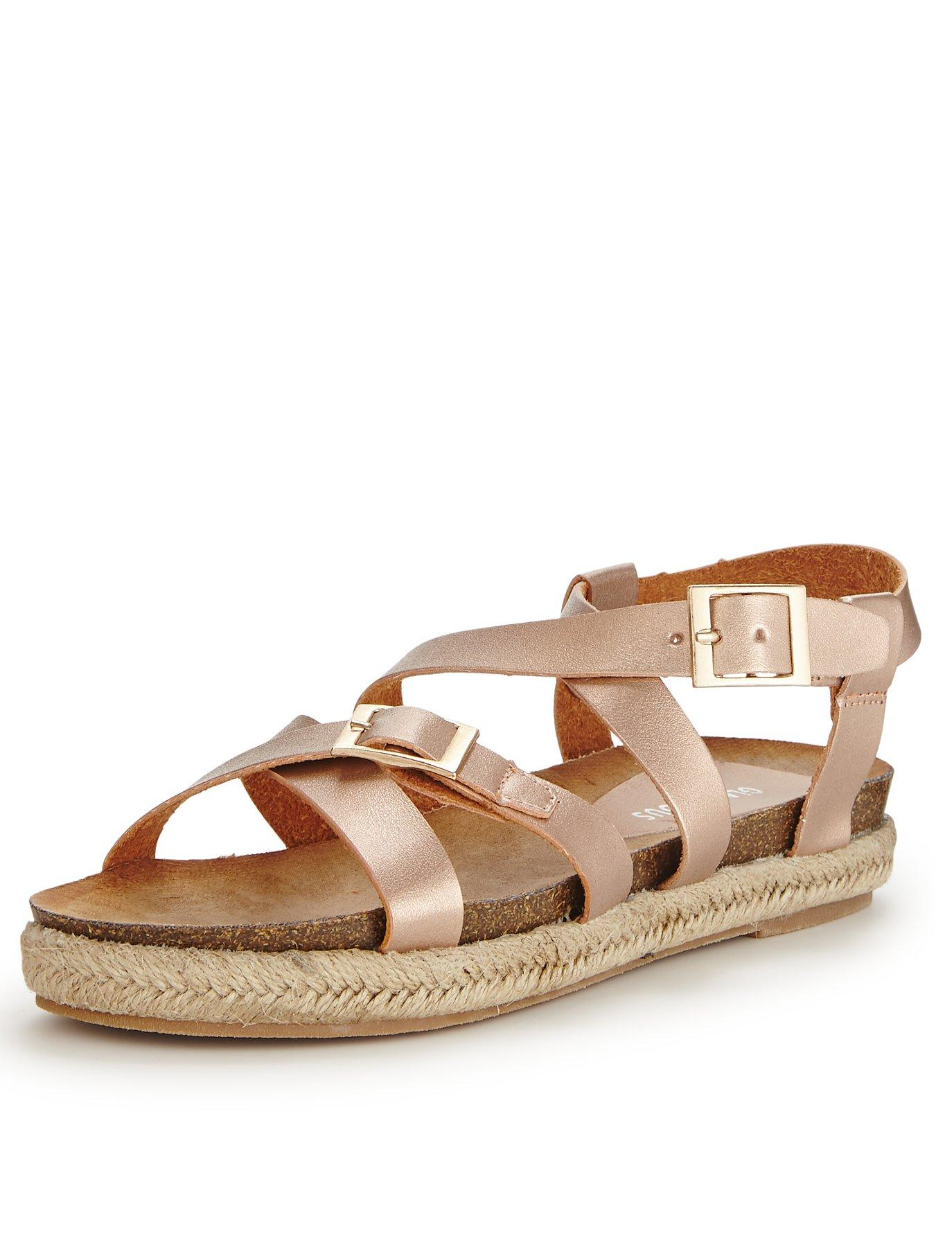 Glamorous Buckle Gladiator Sandals