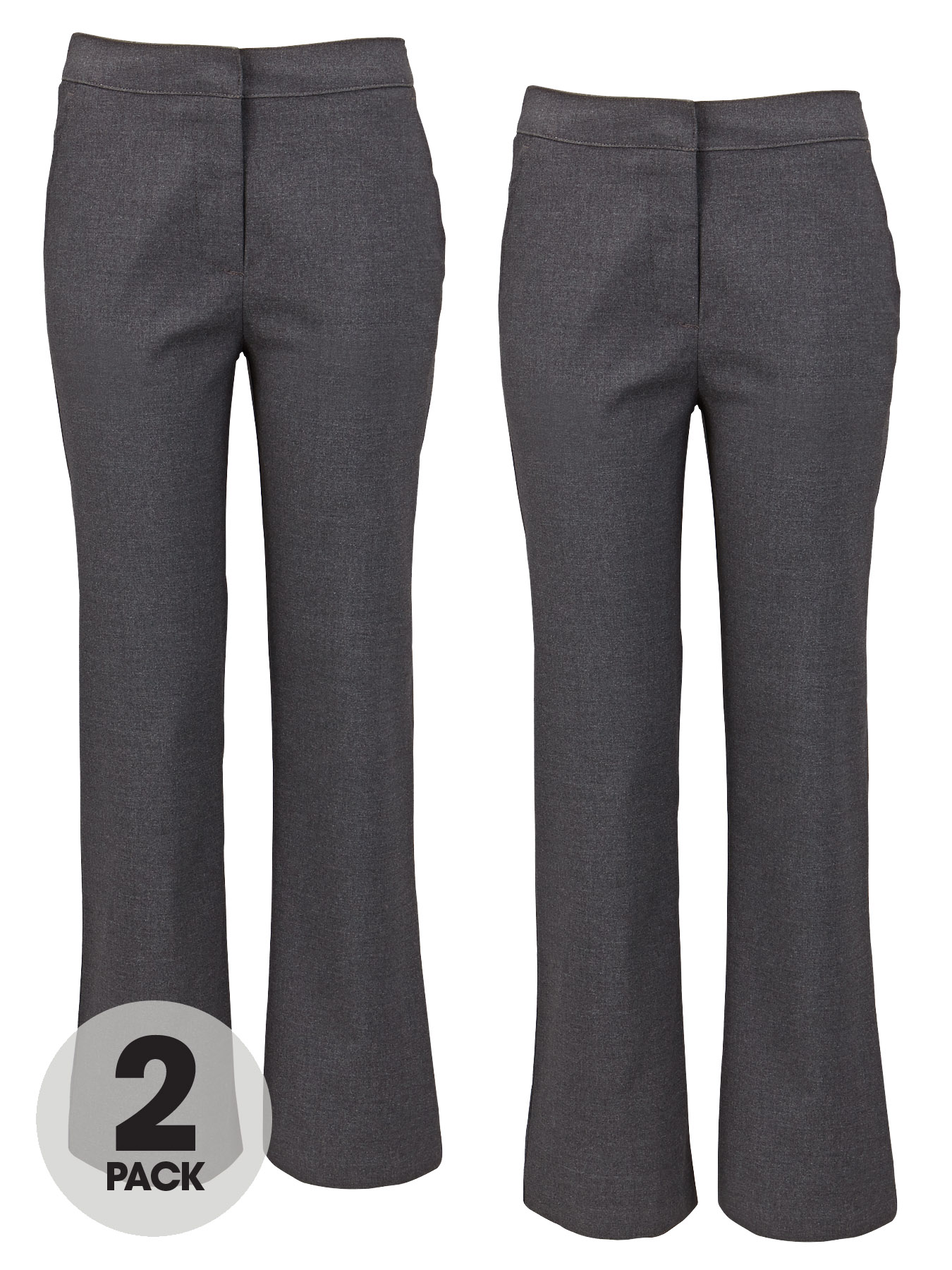 Top Class Girls Pack Of Two School Uniform Long Trousers