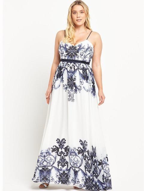 Forever Unique Curve Floral Maxi Dress