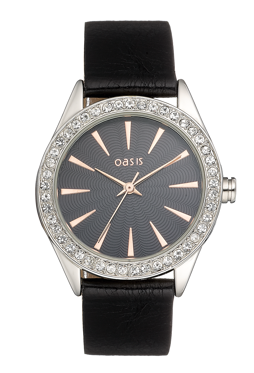 Oasis Crystal Set Bezel Watch Oasis B1194