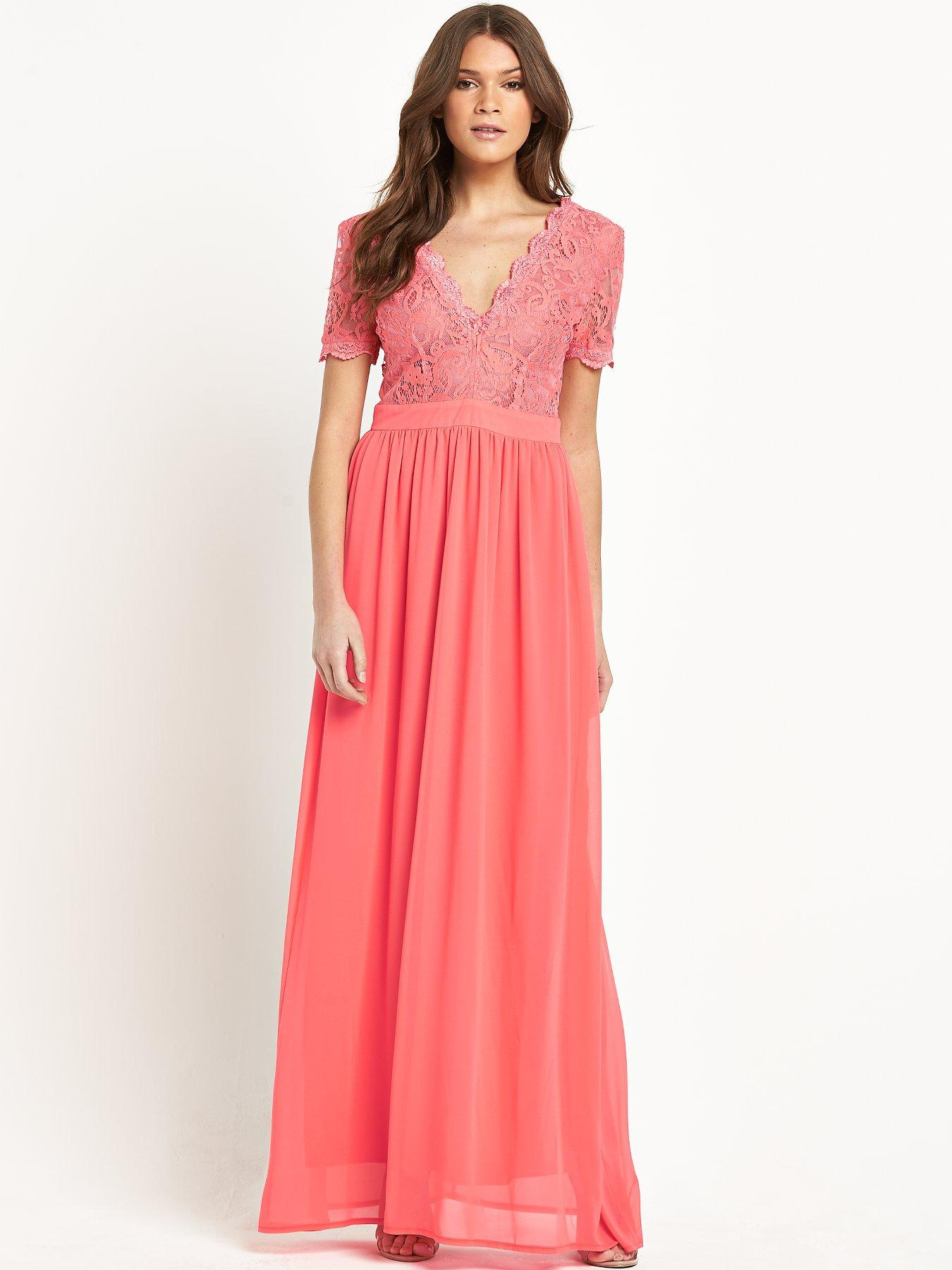 Club L Scallop Lace Maxi Dress