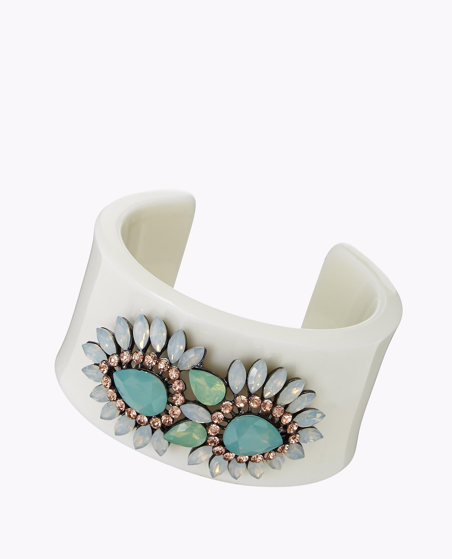 Enamel Jewel Cluster Cuff