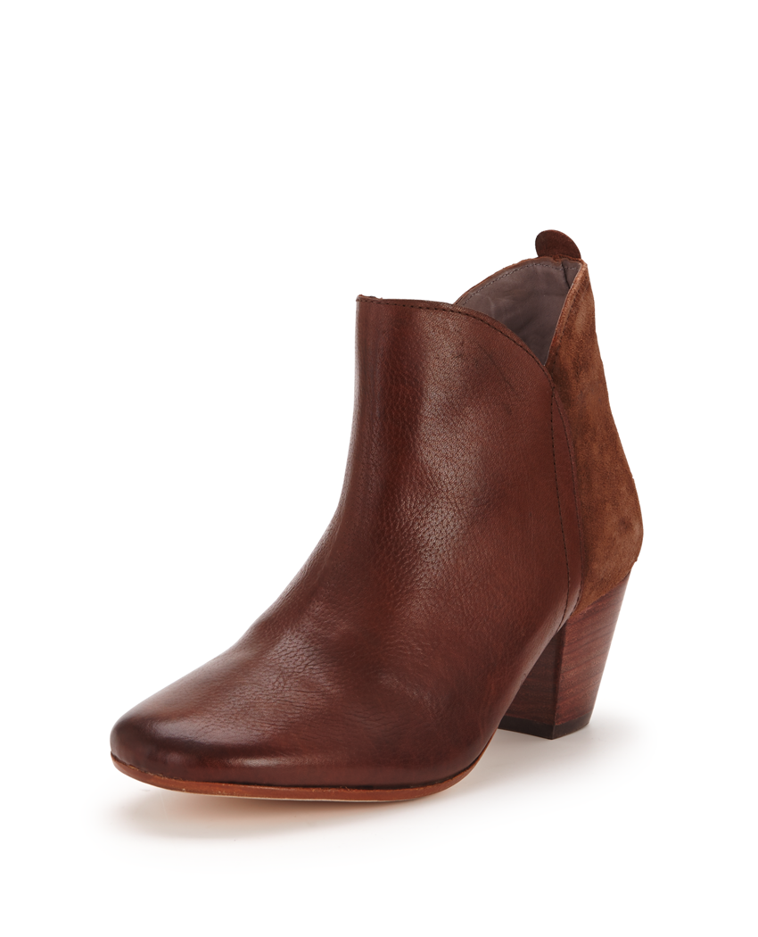 H By Hudson Chime Chocolate Low Heel Ankle Boot