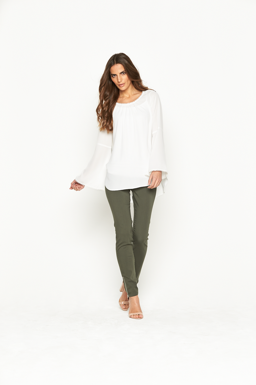 Wallis Bobble Bell Sleeve Top
