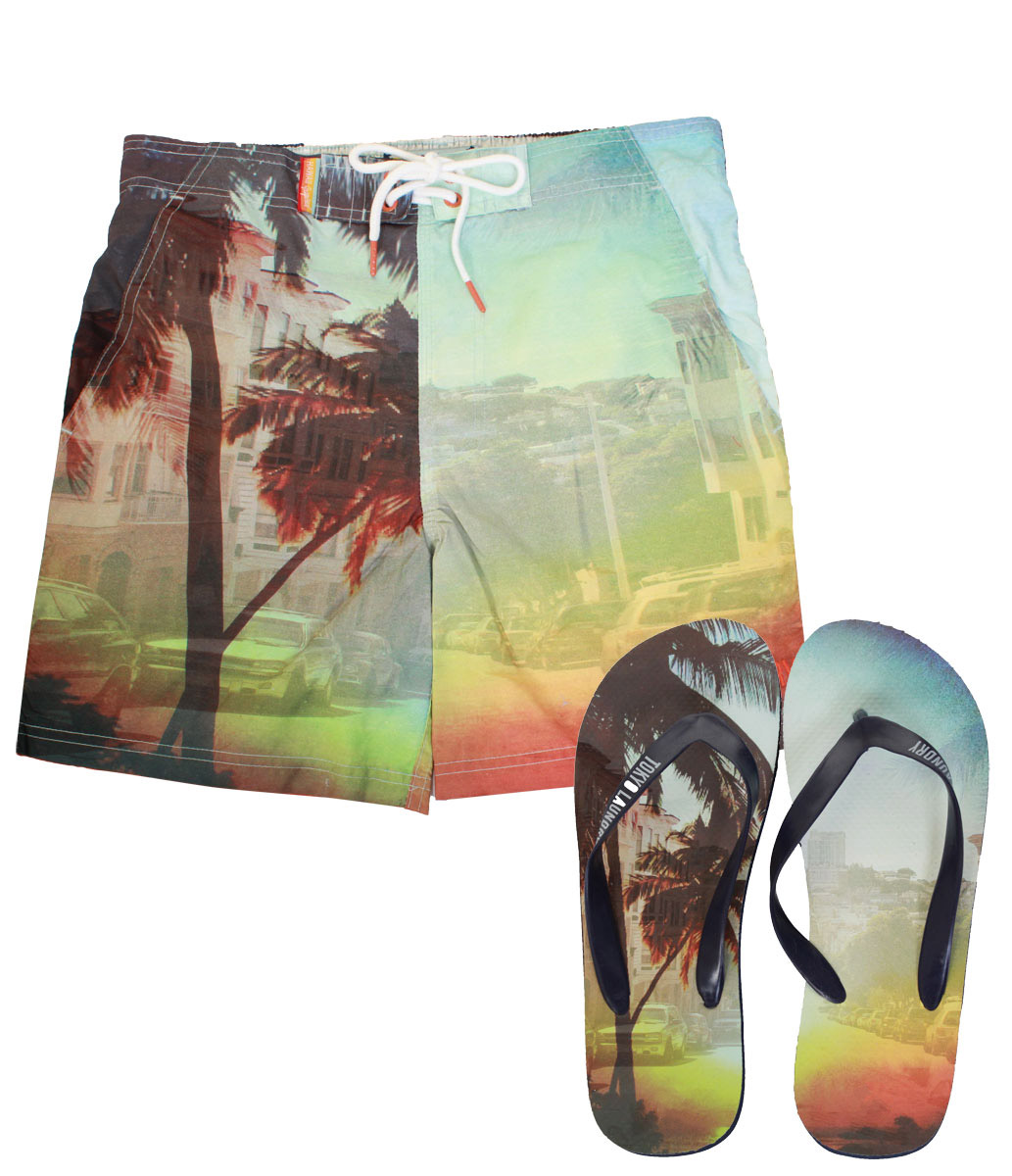 Tokoyo Laundry Doumia Swimming Trunks With Flip Flops