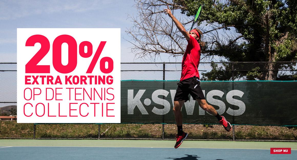 20% korting op de tenniscollectie