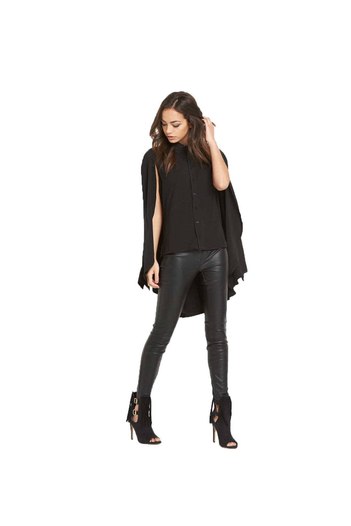 Lavish Alice Cape Long Sleeve Shirt