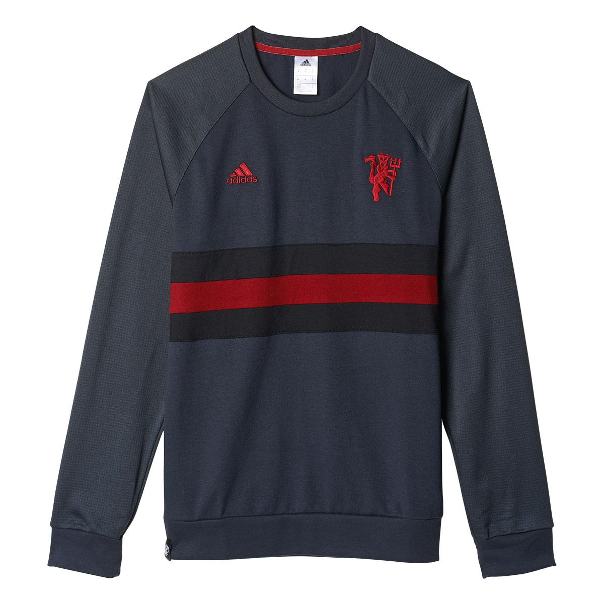 Adidas Mens Manchester United Fanwear Crew Sweatshirt