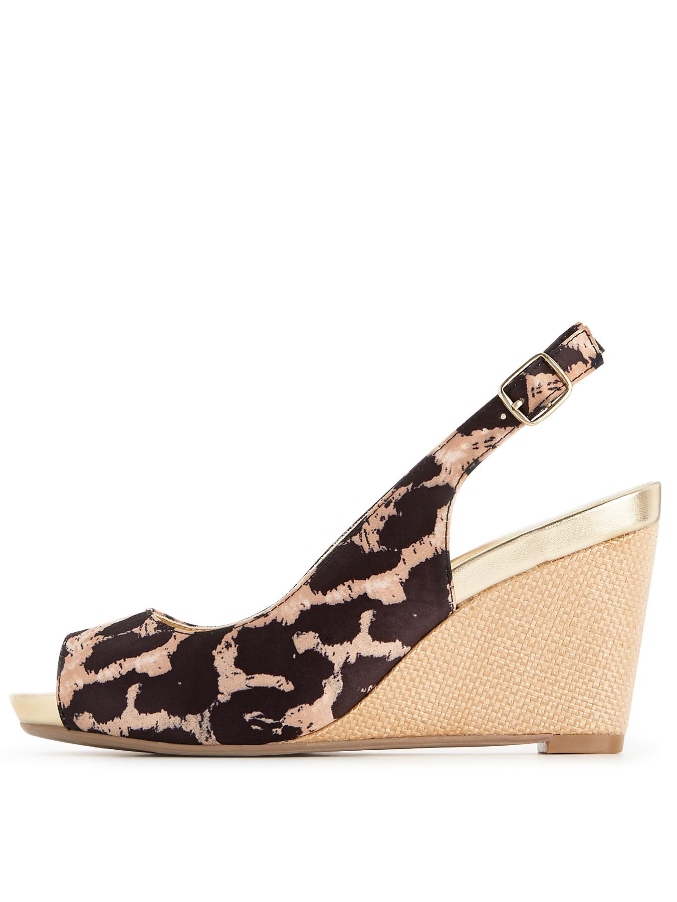 Foot Cushion Rita Slingback Wedges
