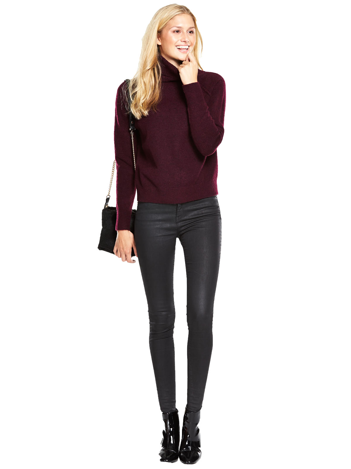 V By Very Roll Neck Exposed Seam Jumper.