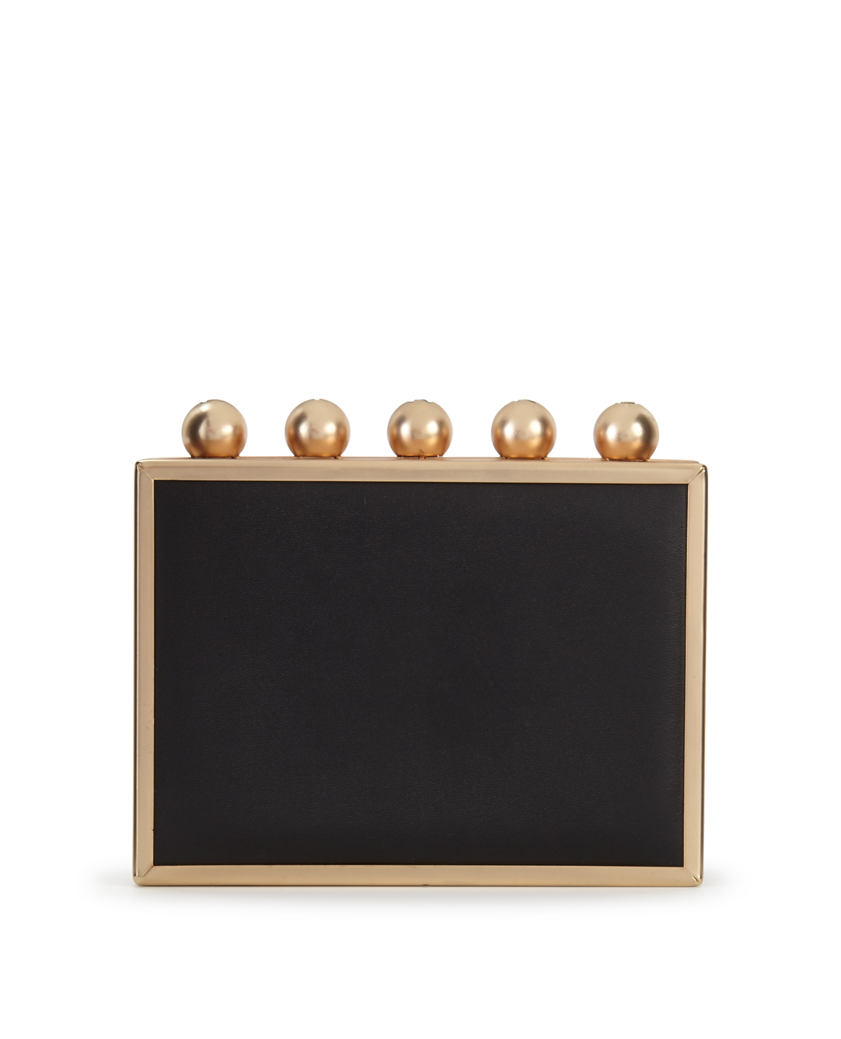 PINKO Square Leather Clutch Bag