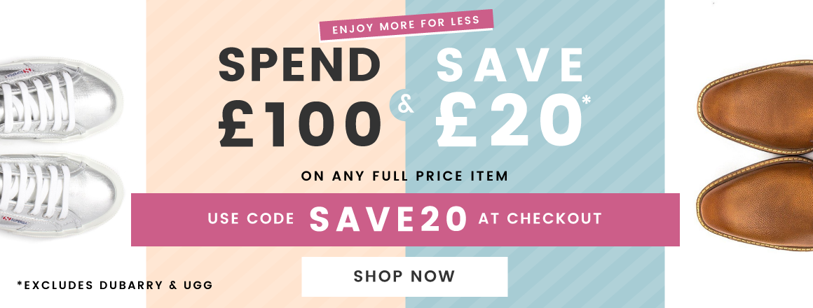 Spend £100 and Save £20