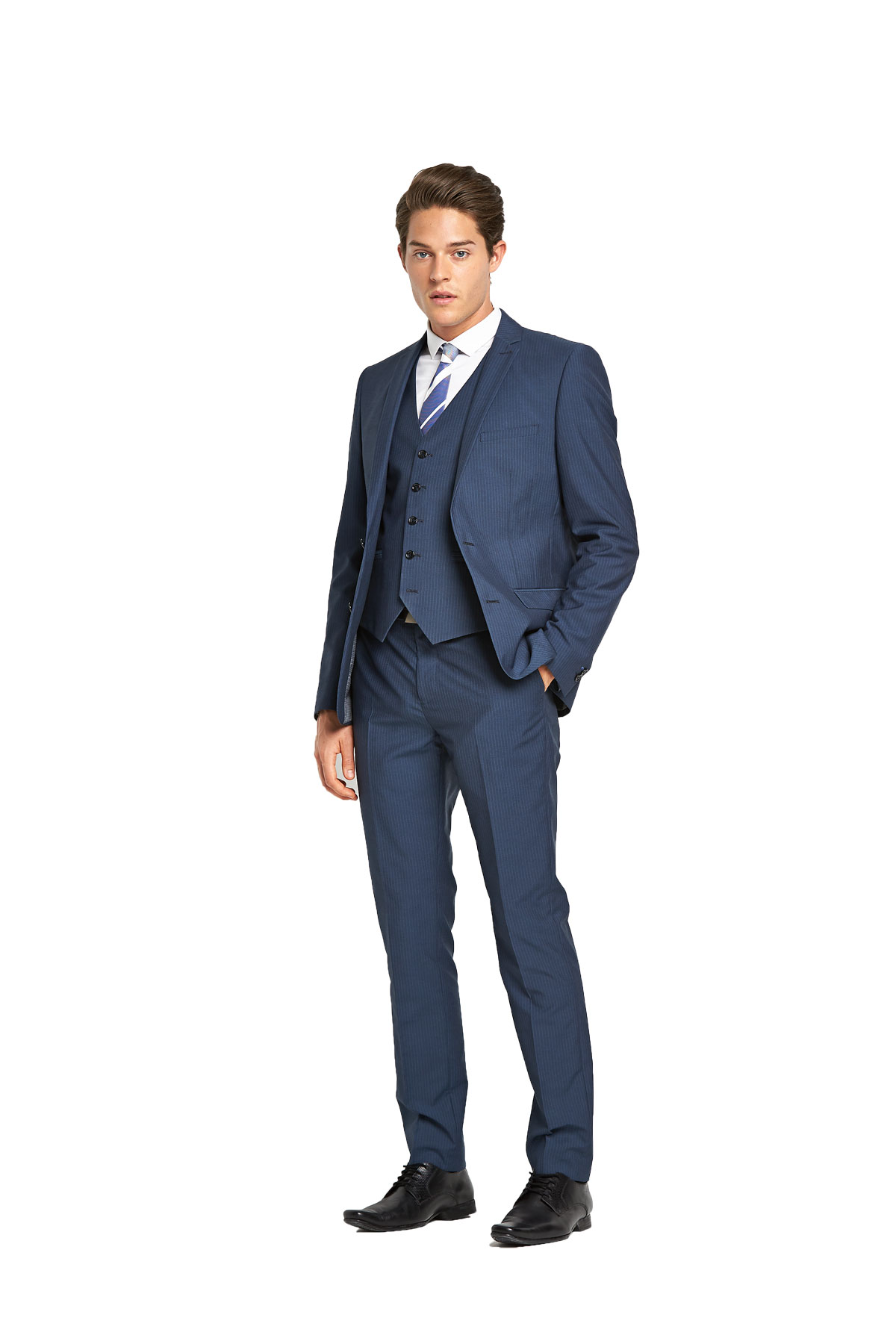 Taylor  Reece Slim Fit Pinstripe Suit Jacket