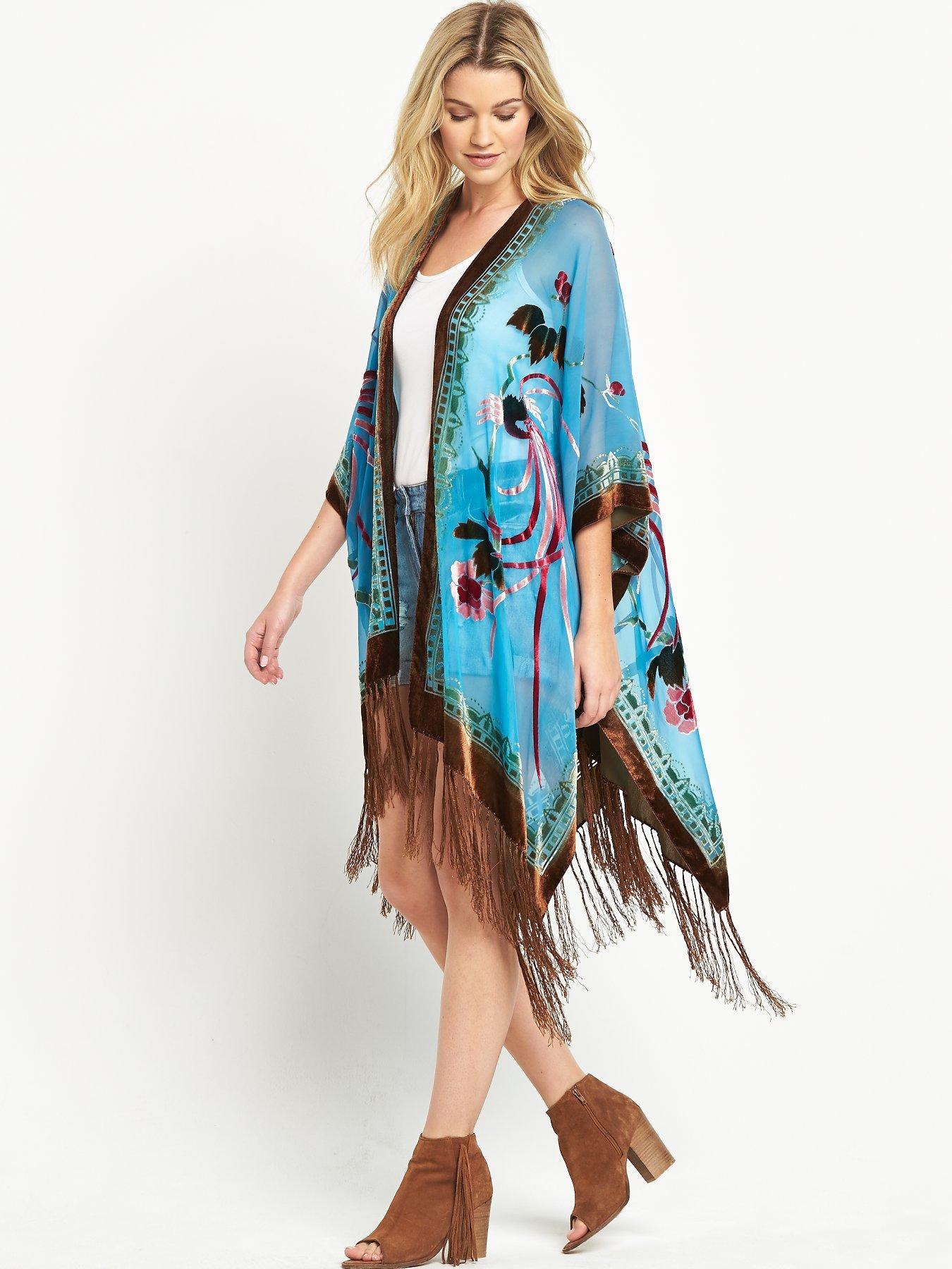 JayLey Embroidered Turquoise Cape