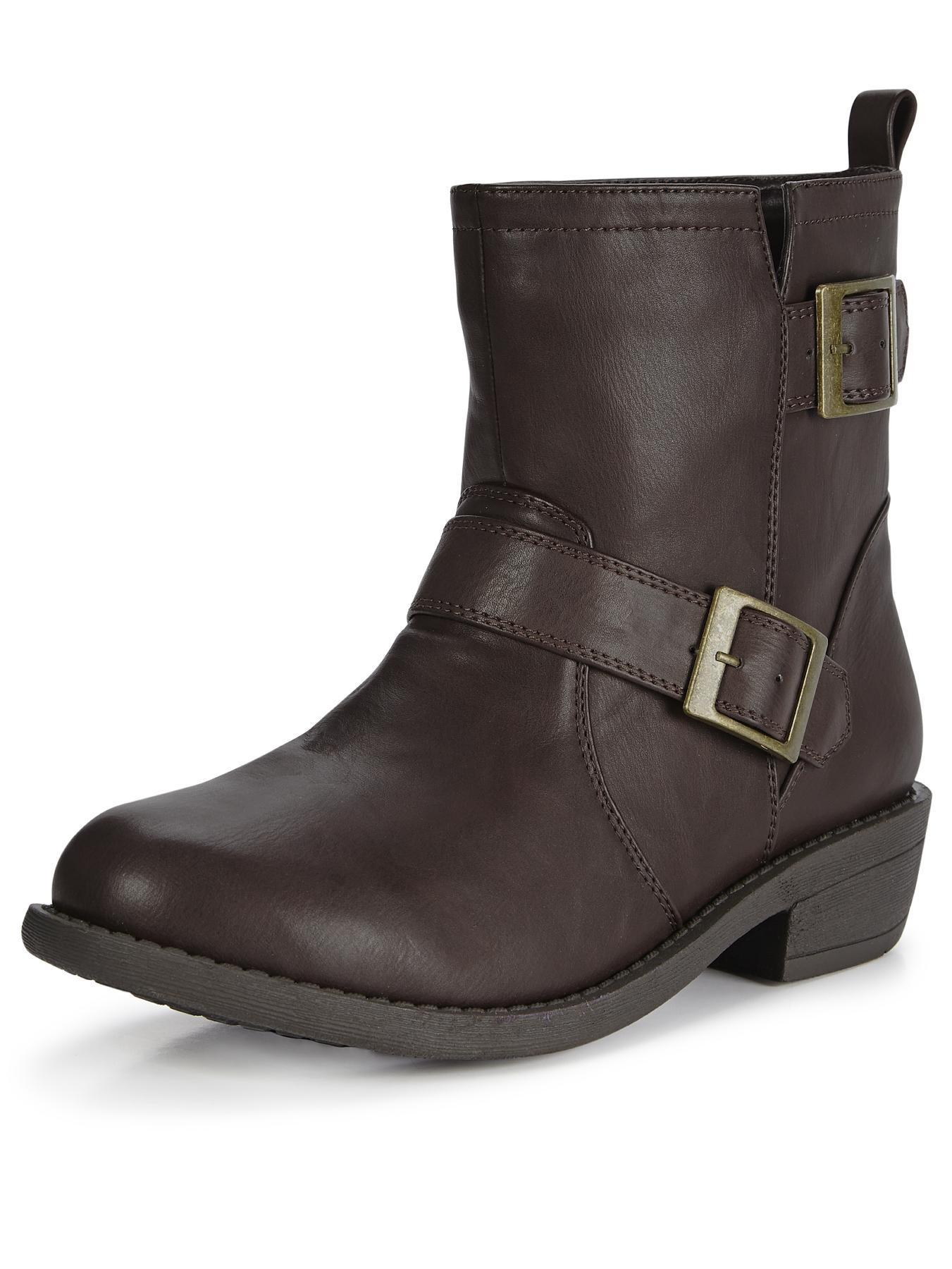 Shoe Box Allegra Buckle Detail Ankle Boots