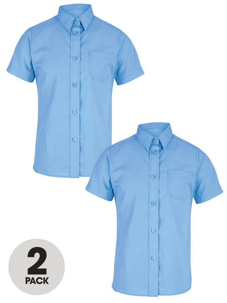 Top Class Girls Pack Of Two Short Sleeve Premium Blouses